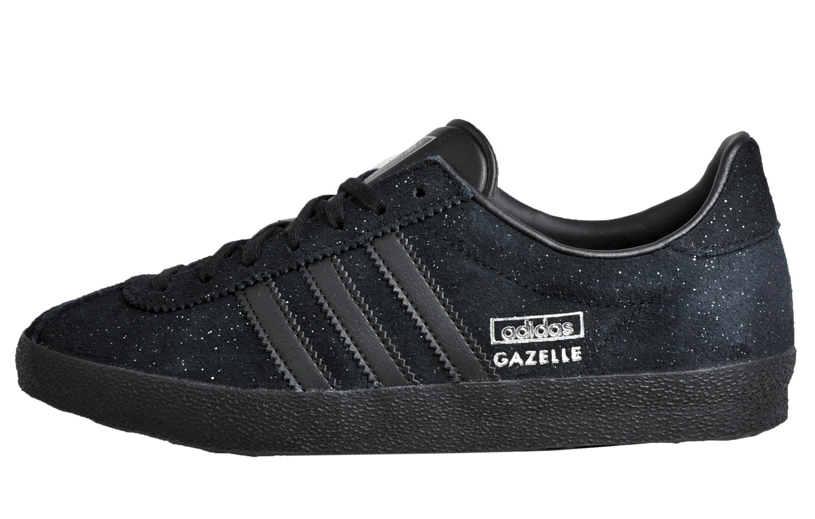 Adidas Gazelle OG Womens Glitz Suede Leather Retro Trainers Ltd Edition  Black
