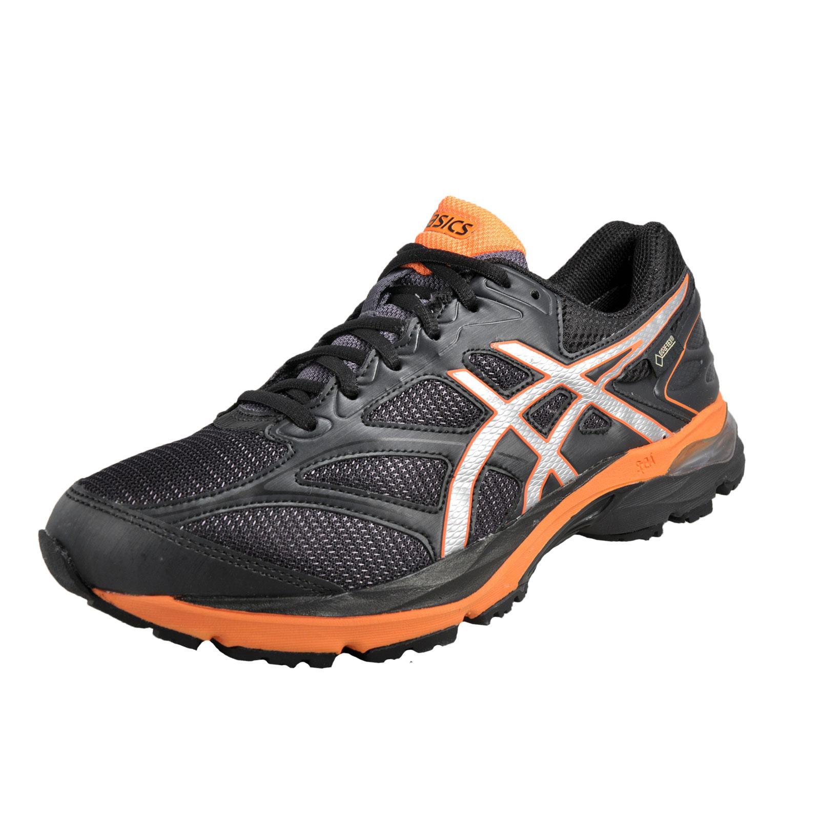 asics gel pulse 8 gtx gore tex mens running shoes black orange ebay. Black Bedroom Furniture Sets. Home Design Ideas