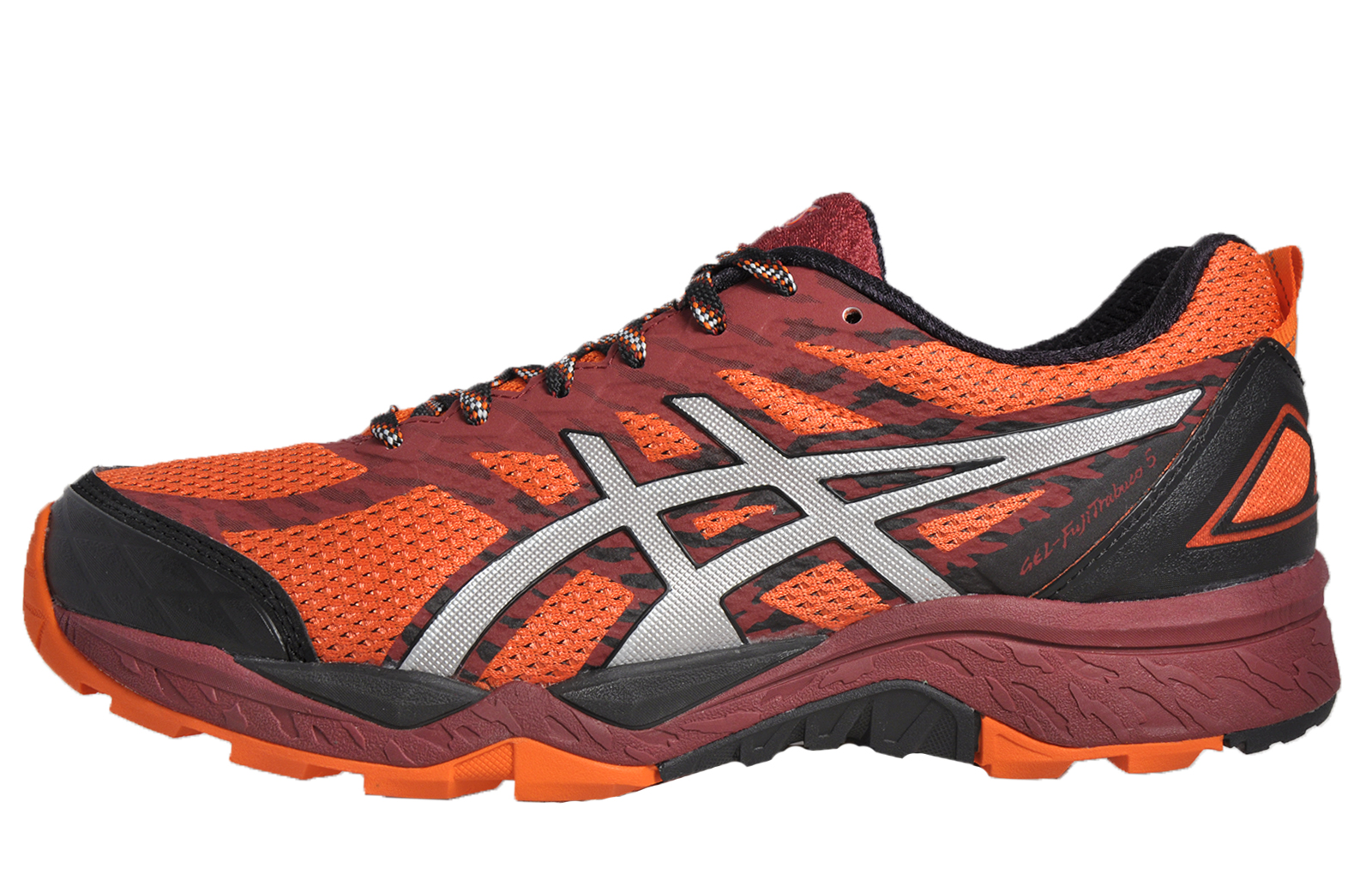 asics gel fuji trabuco 5 mens all terrain running outdoor trail trainers flame o ebay. Black Bedroom Furniture Sets. Home Design Ideas