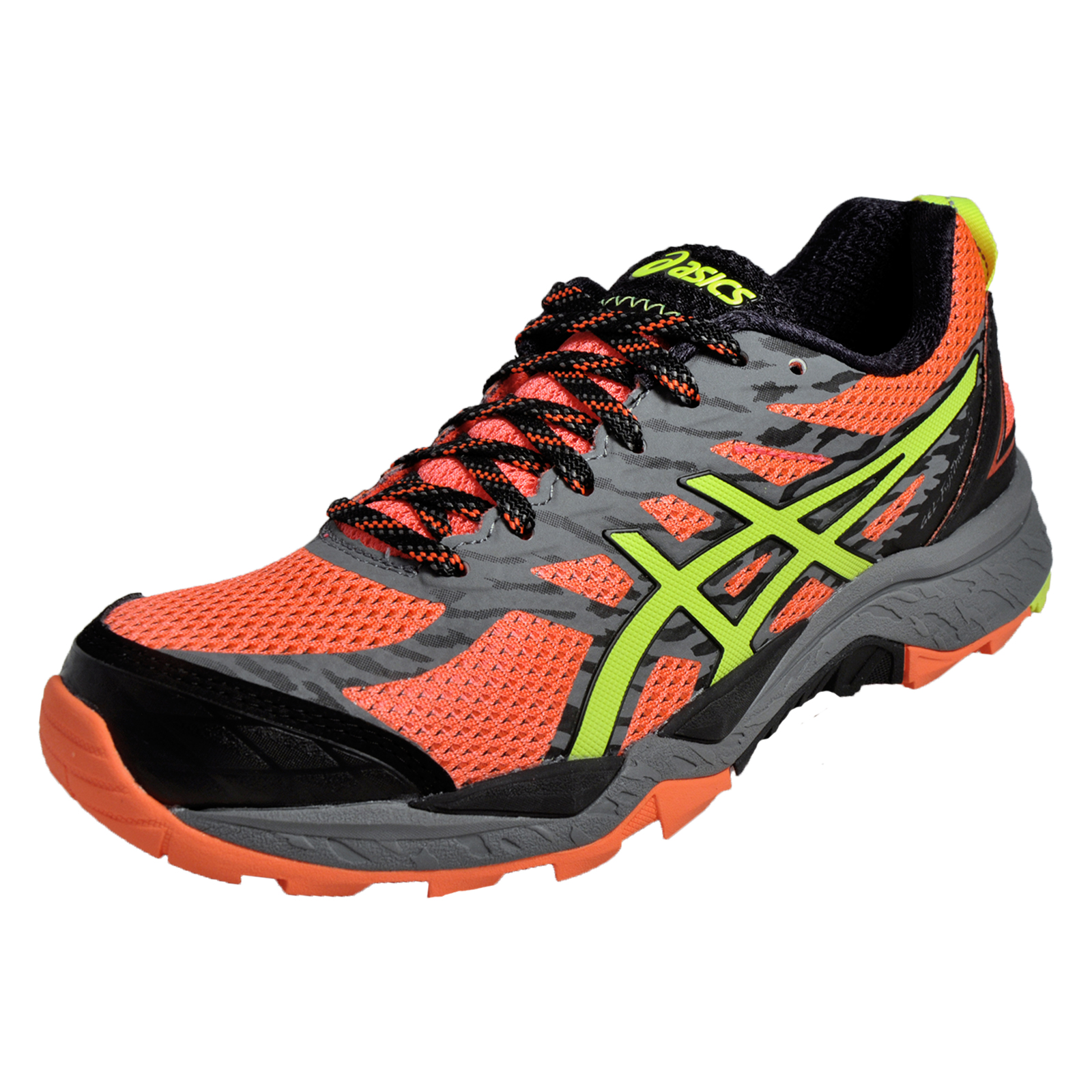 asics gel fuji trabuco 5 womens all terrain trail running shoes flash coral ebay. Black Bedroom Furniture Sets. Home Design Ideas
