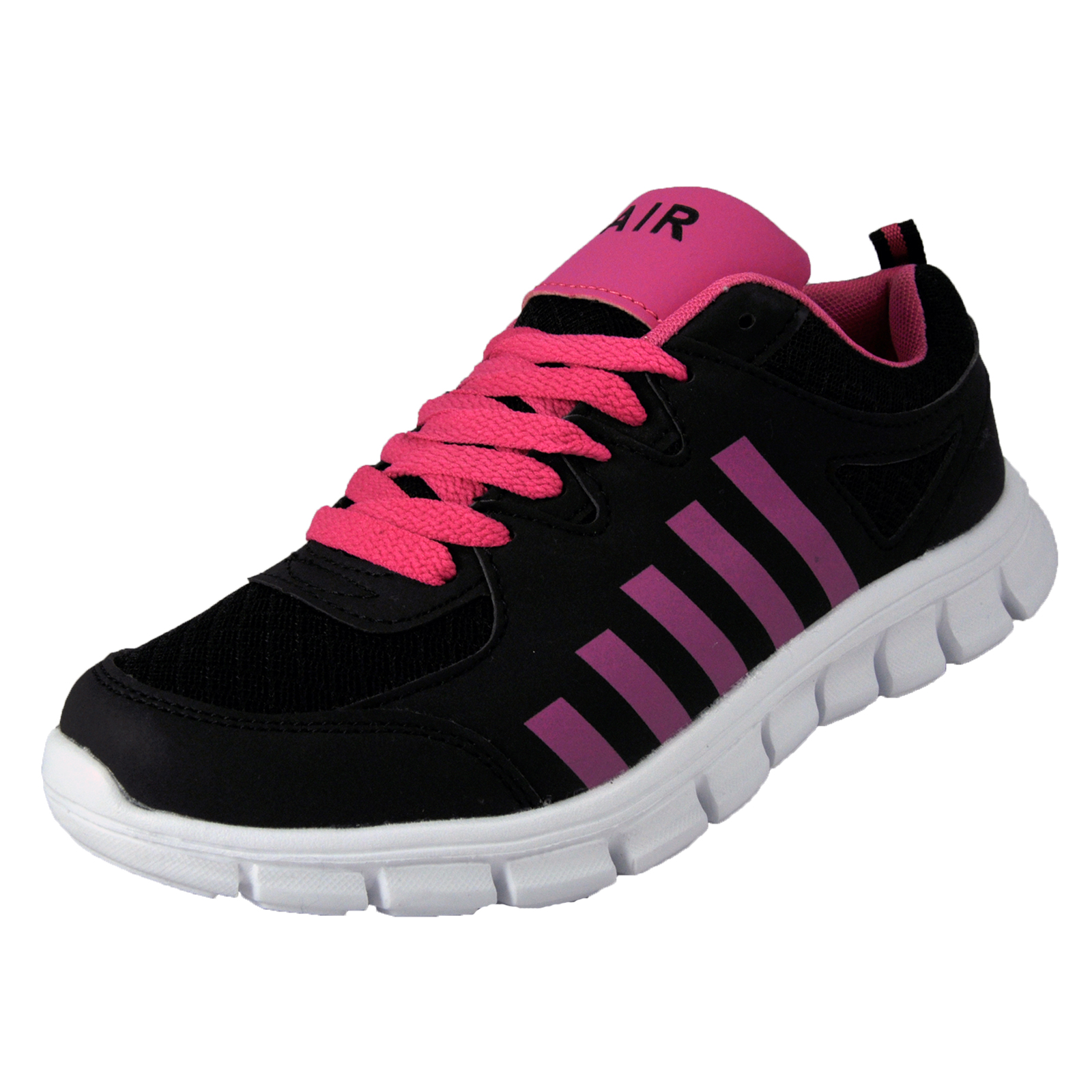 Airtech-Womens-Revenge-Shock-Absorbing-Running-Gym-Trainers-Black-AUTHENTIC