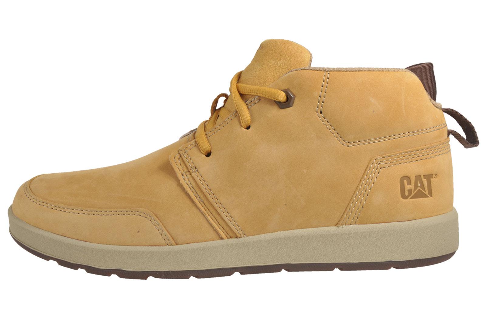 Caterpillar CAT Cruz Mens Premium Mid Cut Leather Casual Boots ...