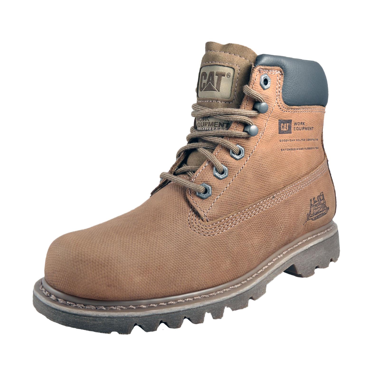 Caterpillar Cat Bruiser Mens Premium Leather Boots Drifted