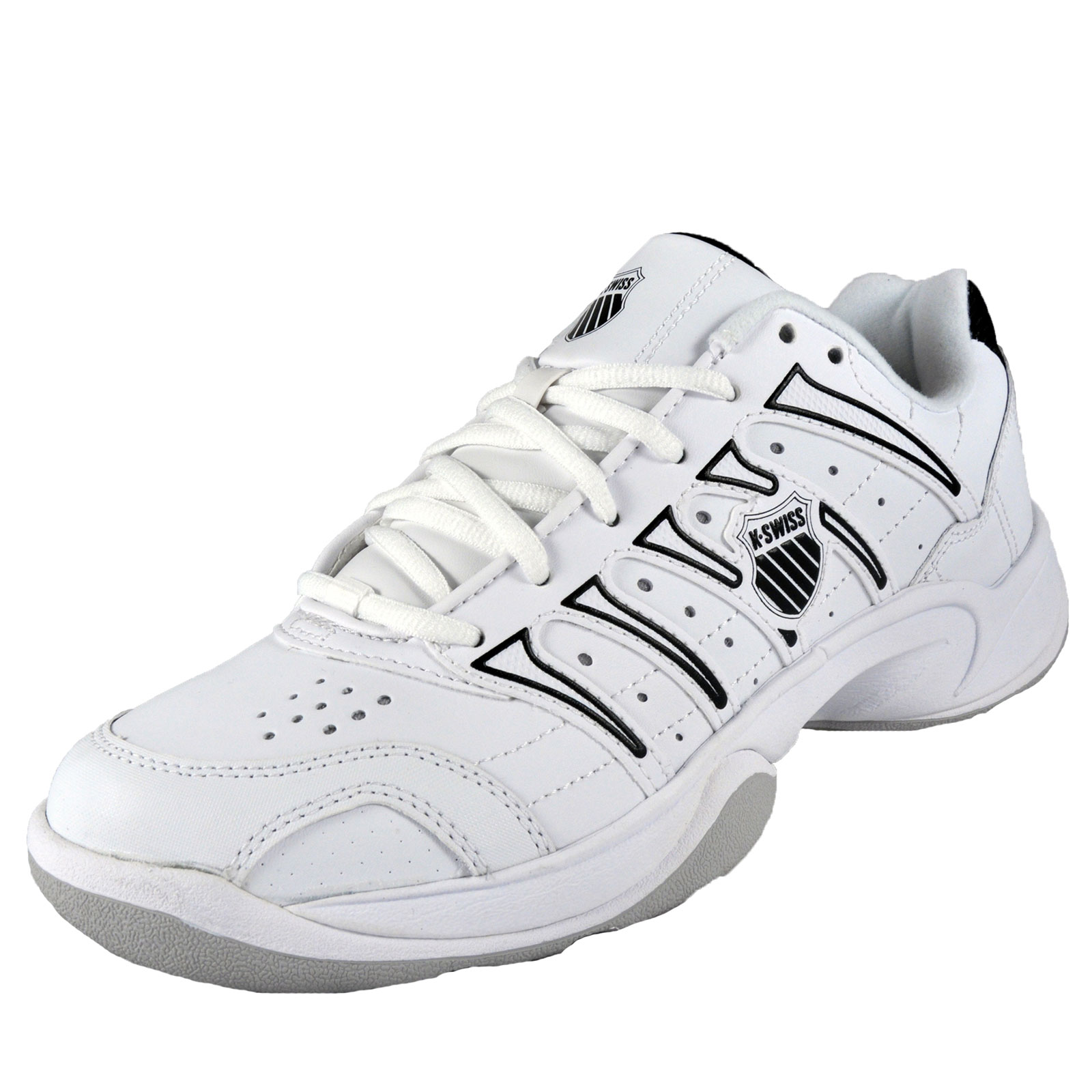 K-Swiss-Mens-Grancourt-Classic-Leather-Court-Trainers-White-AUTHENTIC