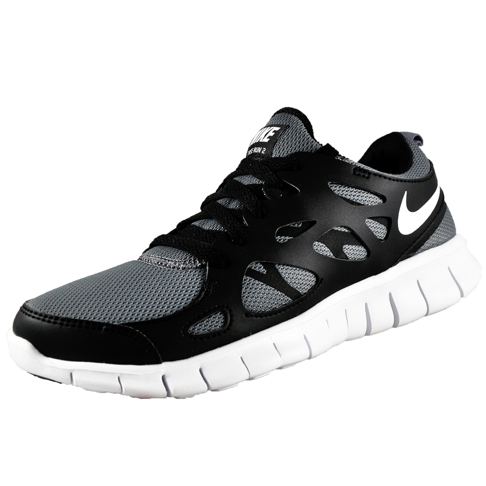 nike womens girls free run 2 running shoes cool grey ebay. Black Bedroom Furniture Sets. Home Design Ideas