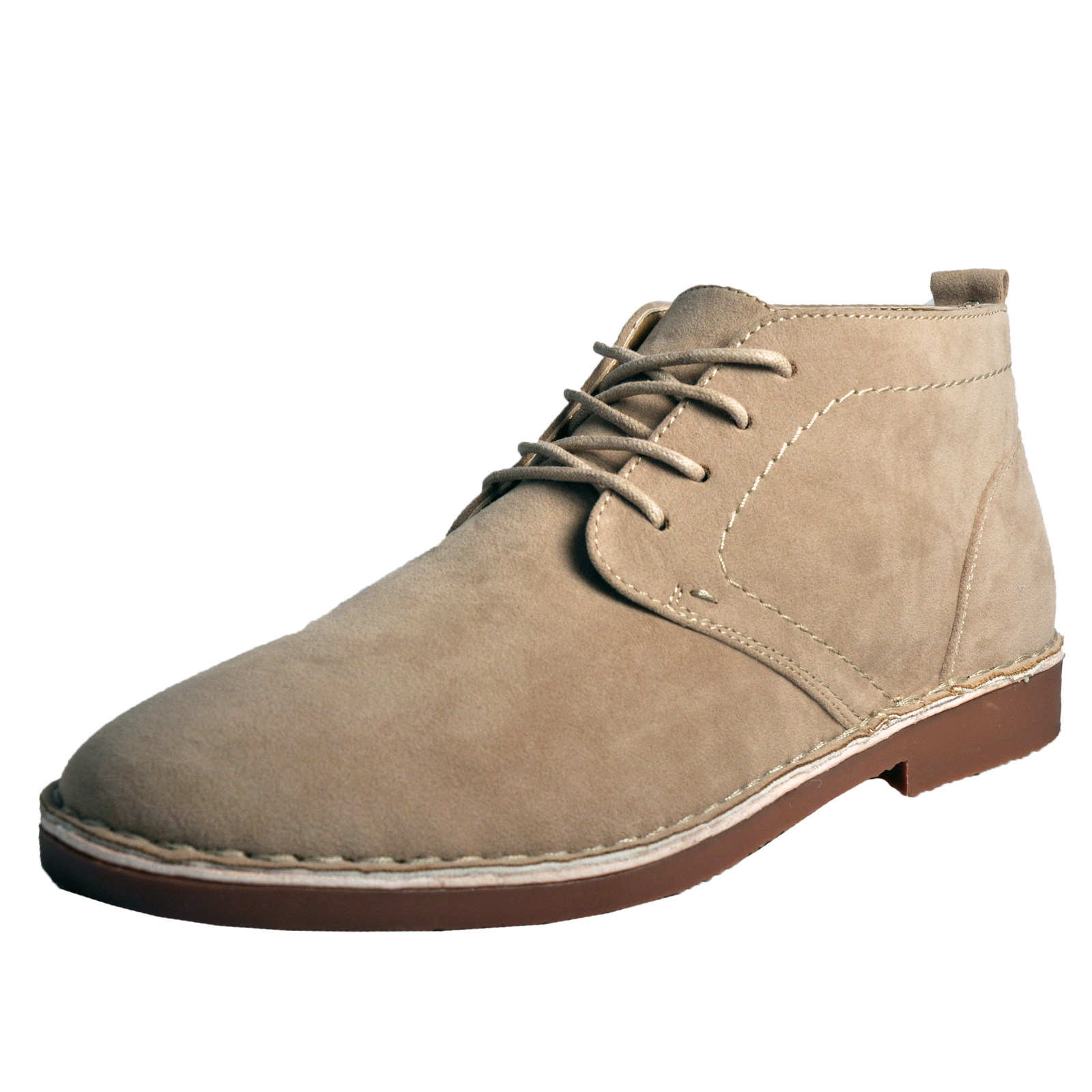 premier sahara mens faux suede classic casual desert boots stone ebay. Black Bedroom Furniture Sets. Home Design Ideas