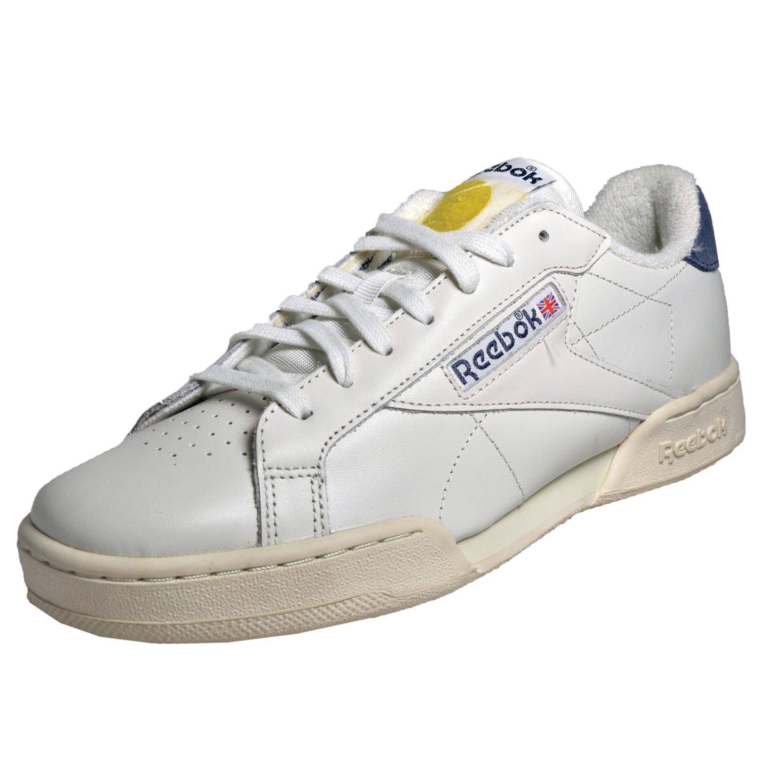 reebok classic npc uk ii tb mens casual court retro trainers off white ebay. Black Bedroom Furniture Sets. Home Design Ideas