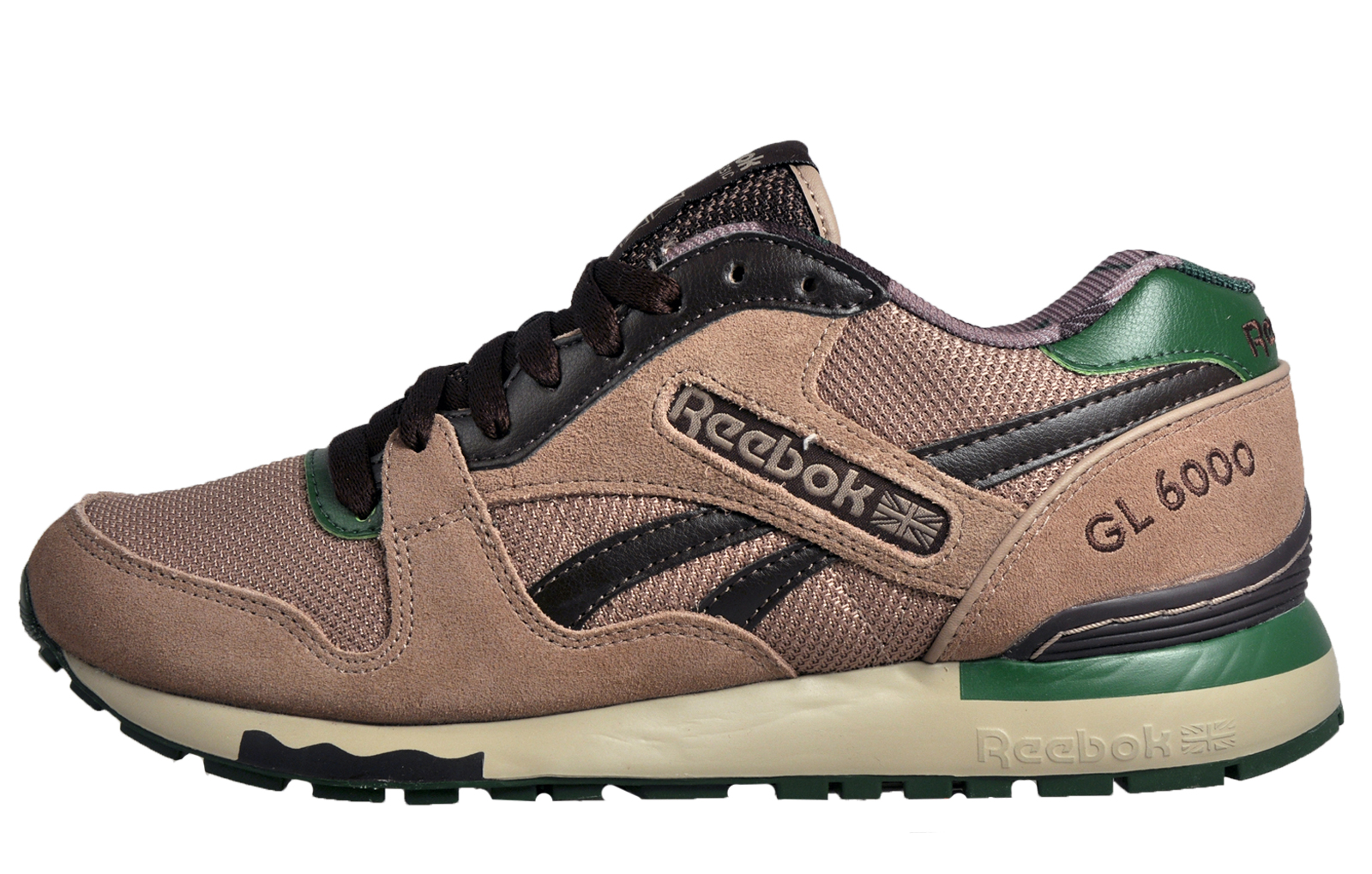 reebok gl 6000 ane mens heritage classic casual retro trainers taupe. Black Bedroom Furniture Sets. Home Design Ideas