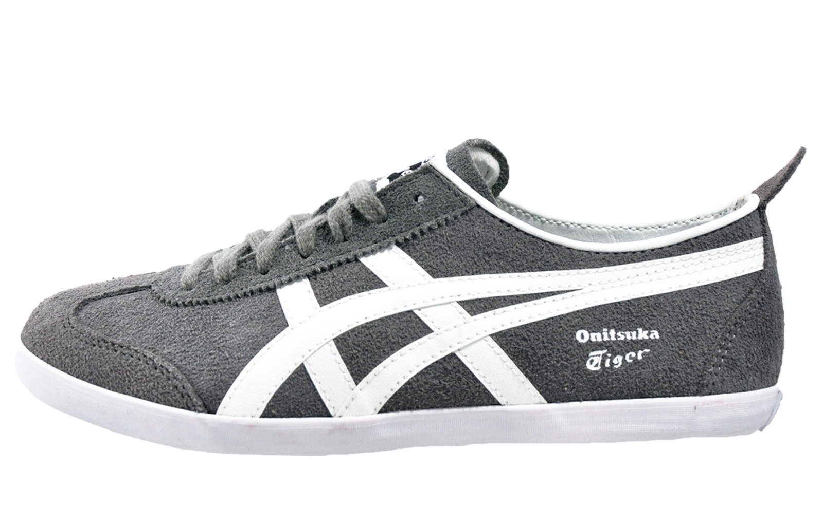 onitsuka tiger mexico 66 vulc uni casual classic suede leather trainers grey ebay. Black Bedroom Furniture Sets. Home Design Ideas