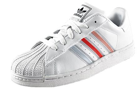 White Adidas Superstar ii '