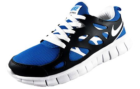 nike free run 2 blue white