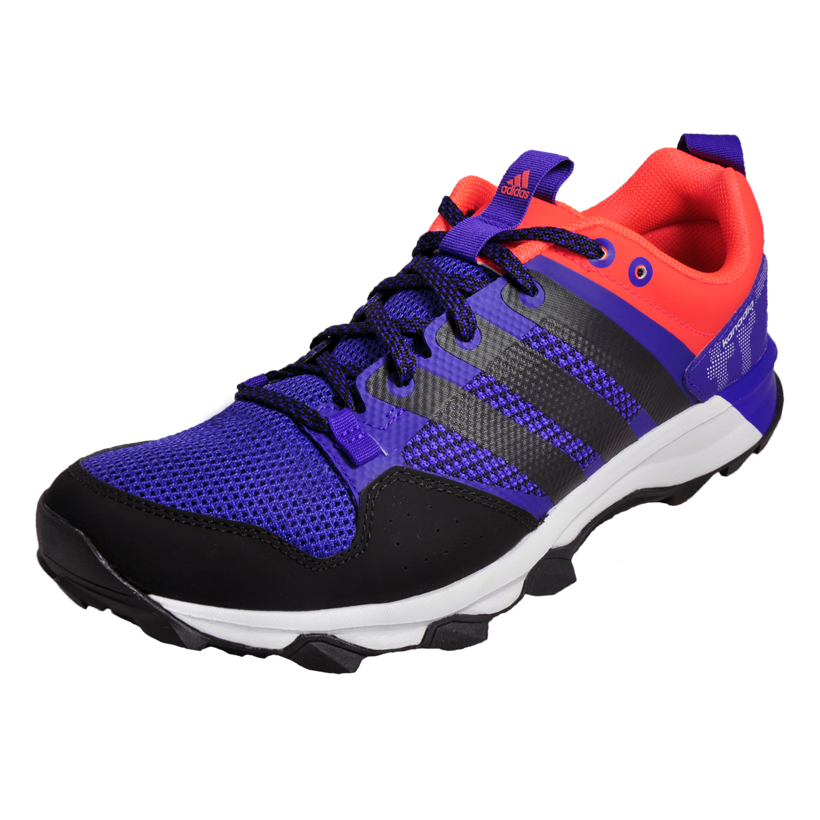 newest d519f 2185a Details about Adidas Kanadia 7TRM Mens All Terrain Trail Running Shoes  Trainers Blue