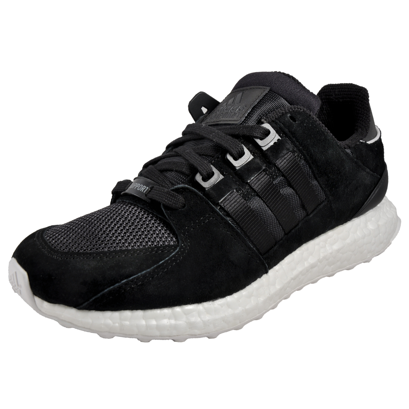e8a65ec0f6de Adidas Originals Equipment Support 93 Boost Mens Classic Casual Retro  Trainers Black