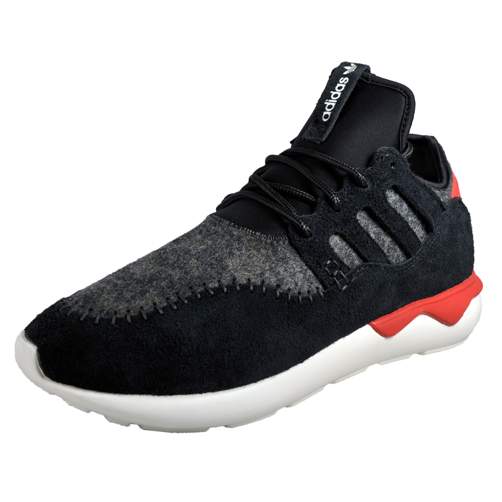 38bea2f493b9cf Details about Adidas Originals Tubular Moc Runner Mens Suede Gym Running  Casual Trainers Black