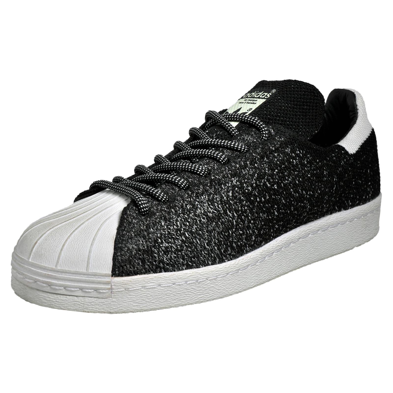 916b0a14a08ca2 Adidas Originals Superstar 80s Primeknit ASG Mens Classic Retro Trainers  Black