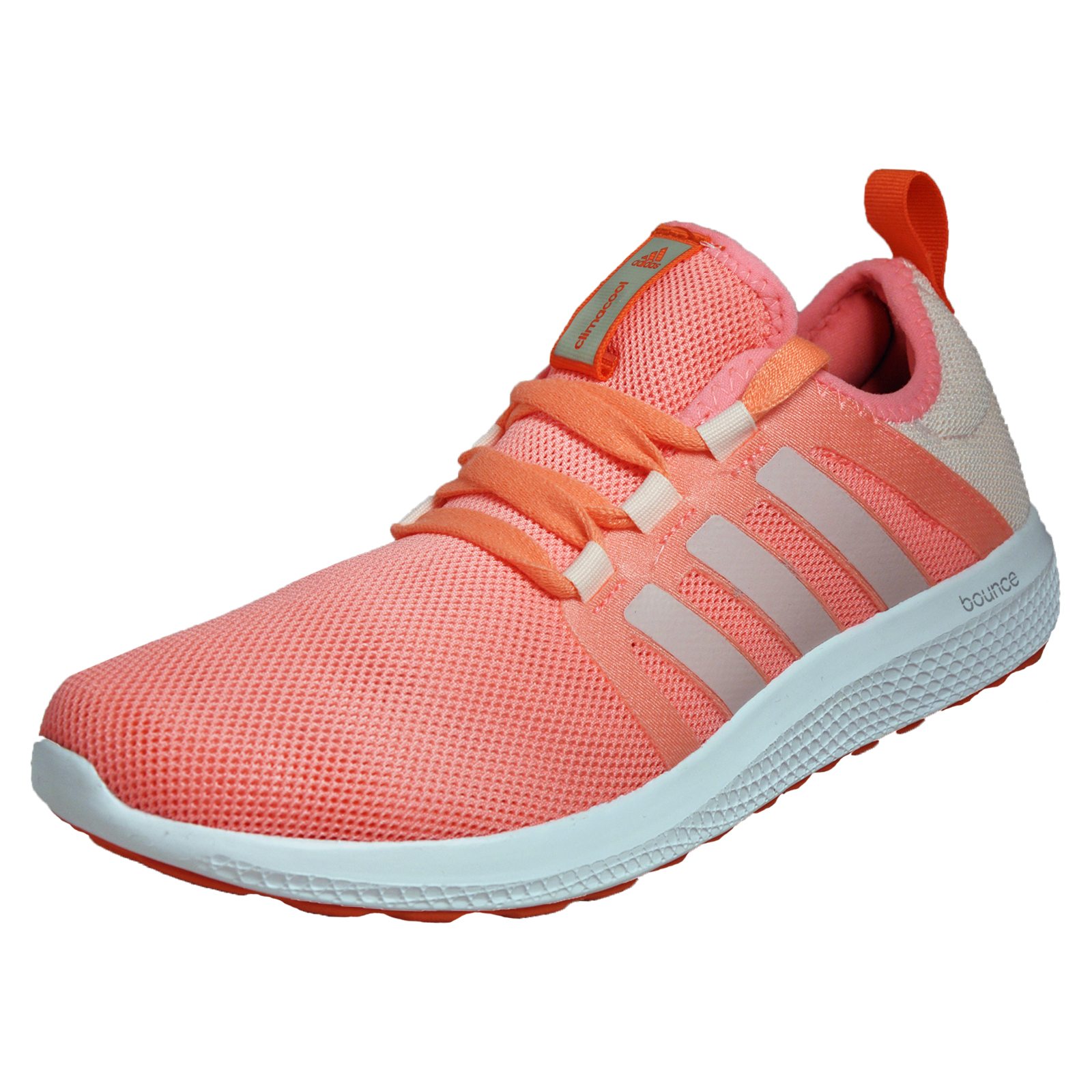 60cb99750 Details about Adidas ClimaCool CC Fresh Bounce Womens Running Shoes Fitness  Trainers Peach
