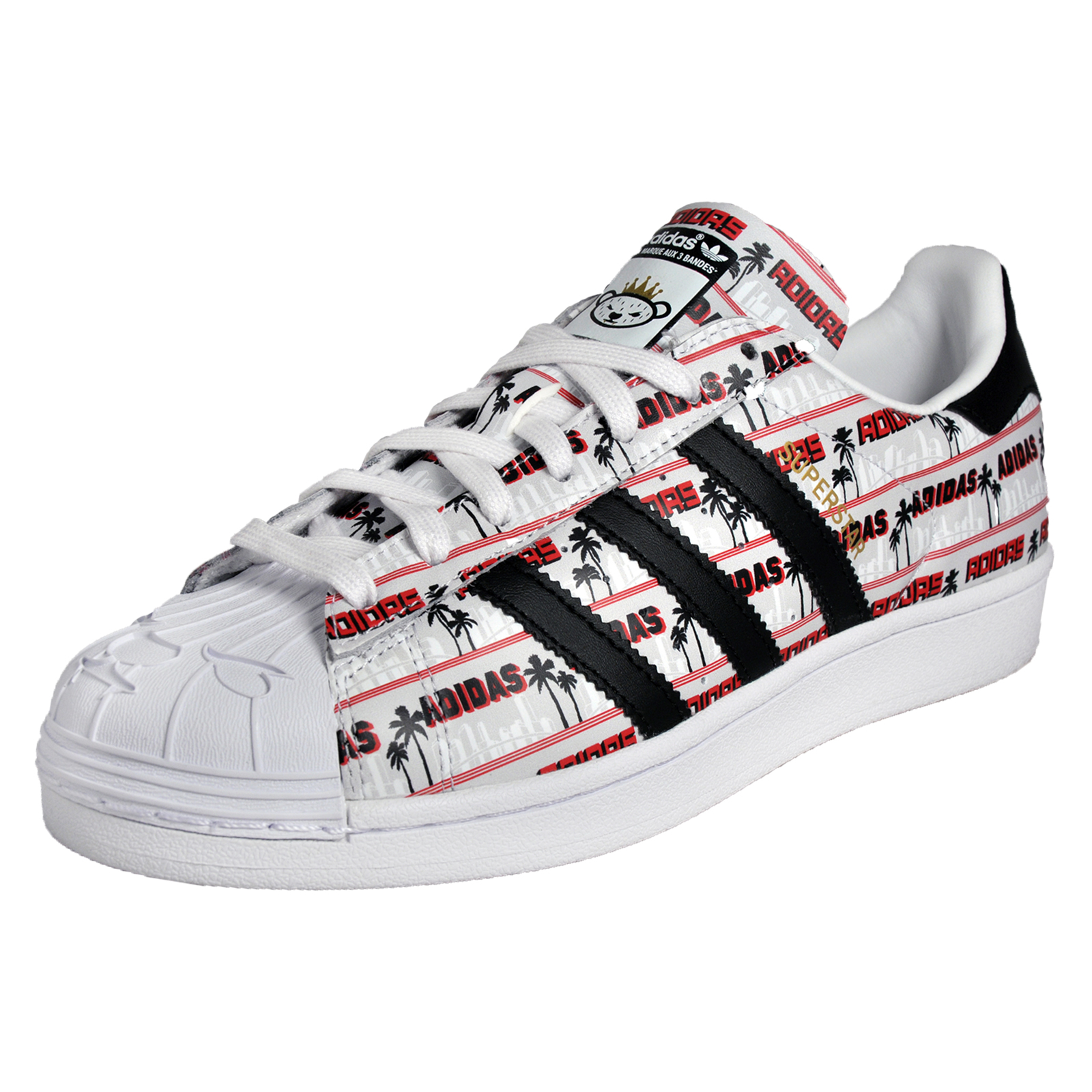 buy online 19df5 dfba2 Details about Adidas Originals Superstar Nigo Bearfoot Mens Classic Casual  Trainers White