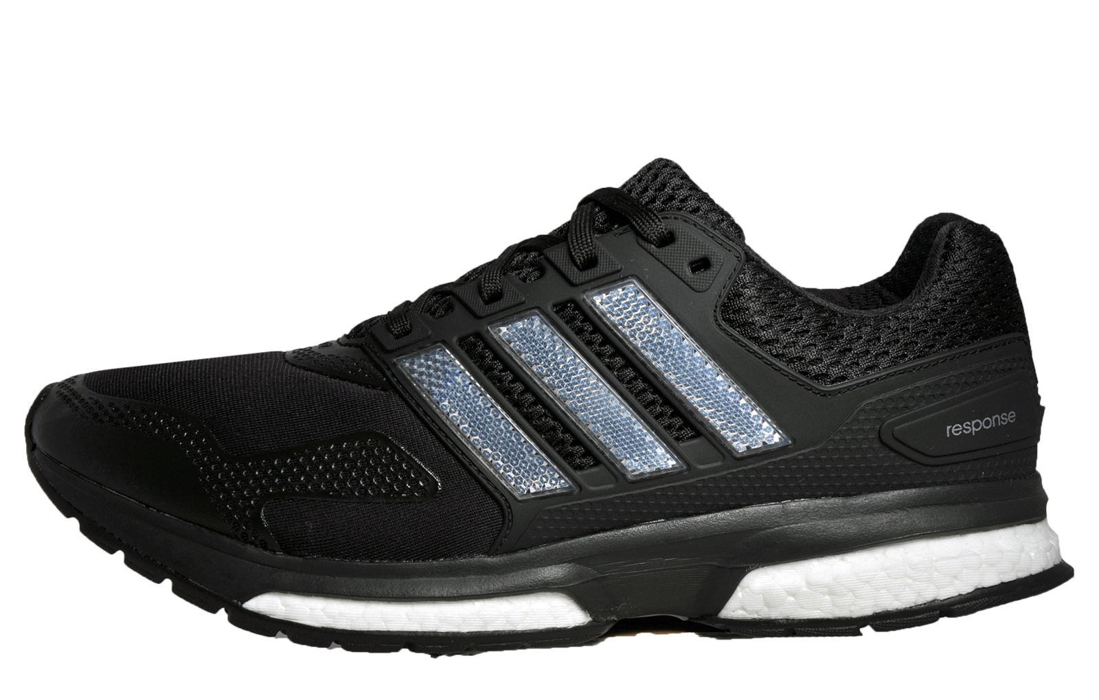 Adidas Response Boost 2 Techfit Mens Running Shoes Fitness Gym Trainers  Black e397a9e95