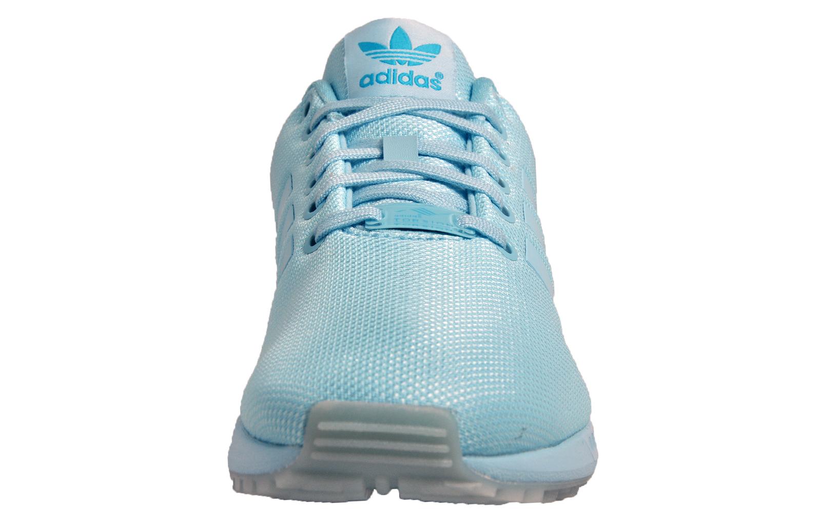 d5431fde3e059 ... discount code for adidas originals zx flux womens girls classic casual  retro trainers light blue 351bf
