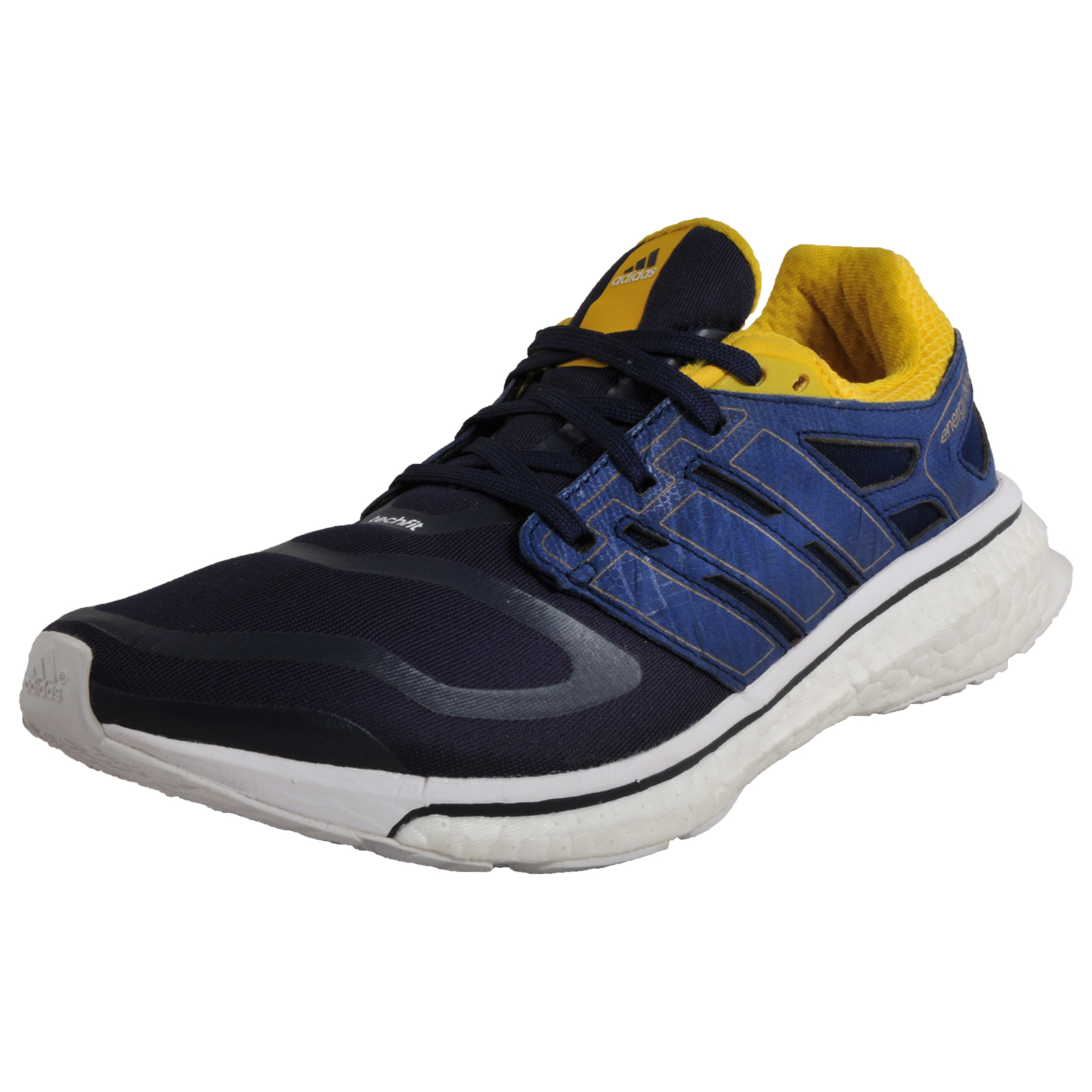 089025c10f7e3 Details about Adidas Energy Boost Techfit Mens Premium Running Shoes Gym  Trainers Navy