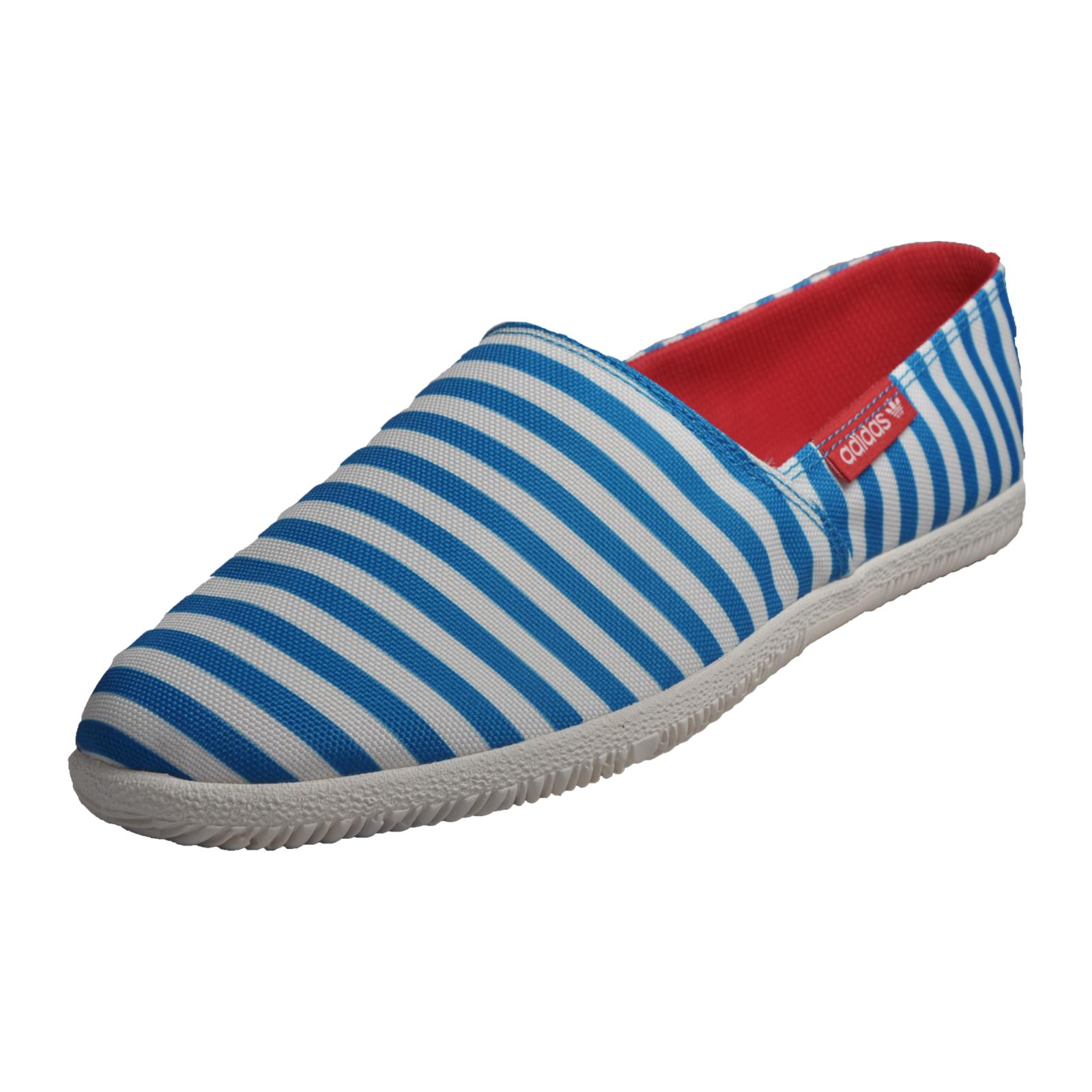 565f64bd1559 Details about Adidas Orignals Adidrill Mens Classic Summer Slip On  Espadrilles White Blue B Gr