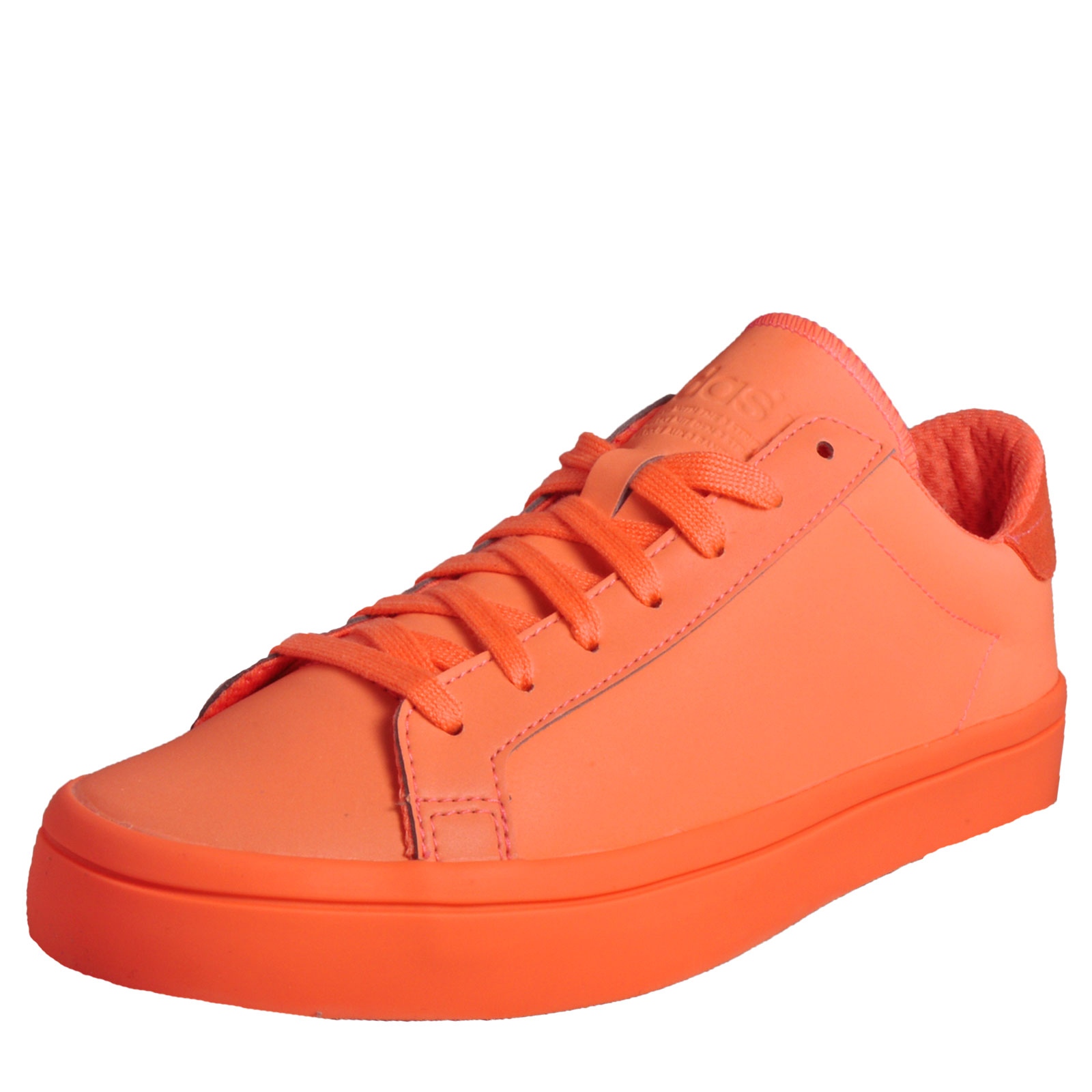 detailed look 3b9df 20d28 Adidas Originals Court Vantage Adicolor Uni Classic Casual Trainers Orange