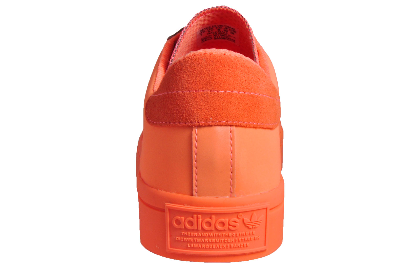 half off bf34f e0445 Adidas Originals Court Vantage Adicolor Men s Classic Casual Trainers Orange