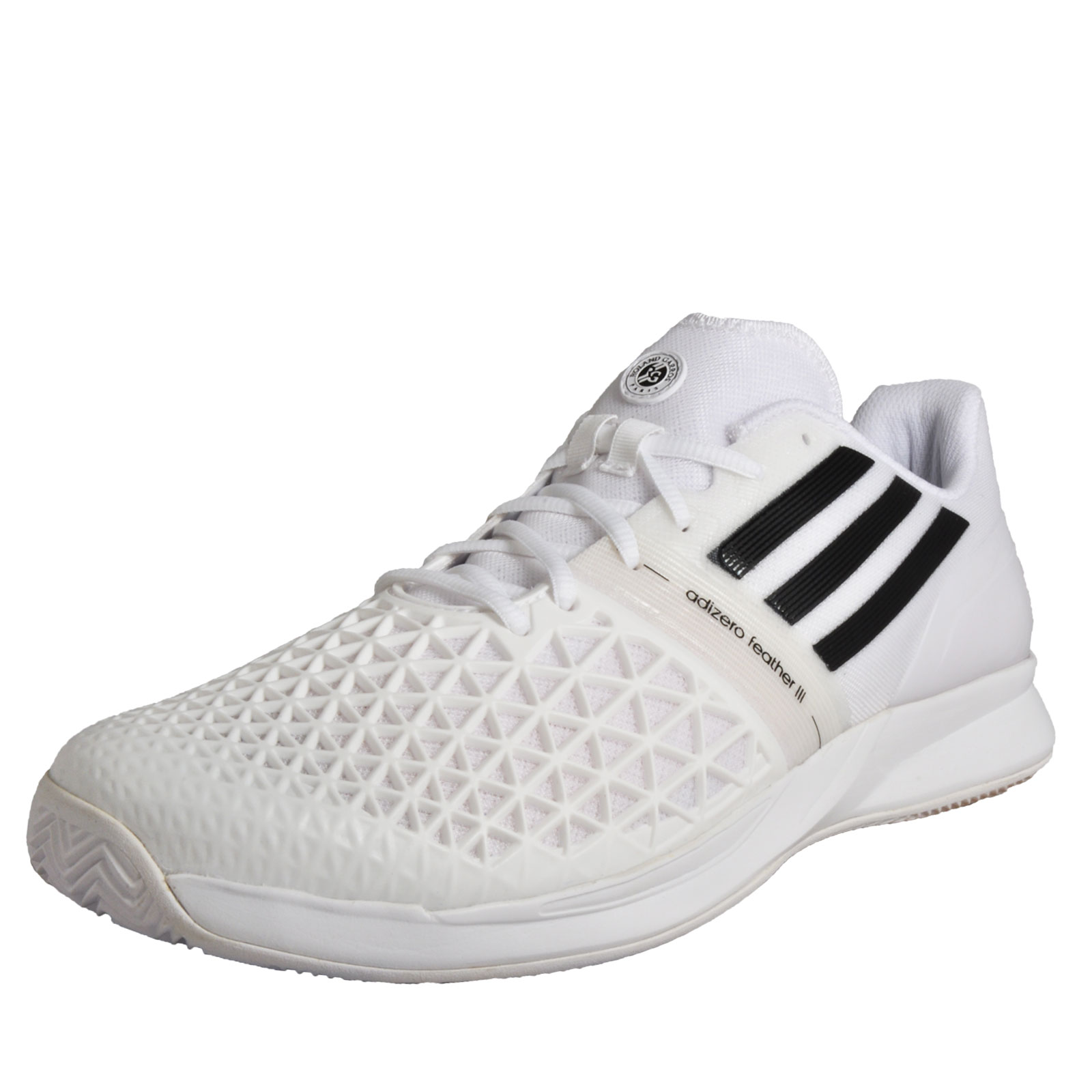 best service fe963 1b3d5 Details about Adidas CC Adizero Feather III RG Men s Tennis Shoes Court  Fitness Trainers White