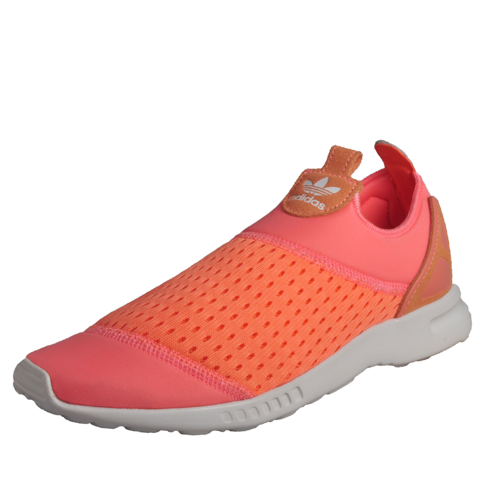 new styles a660e b8ebd Details about Adidas Originals ZX Flux Adv Smooth Slip-On Womens Fitness  Gym Trainers Pink