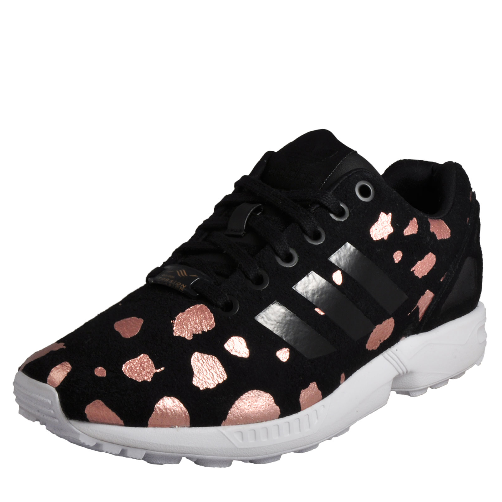 new style e0f46 e5a81 Adidas Originals ZX Flux Women s Classic Casual Retro Gym Trainers Black