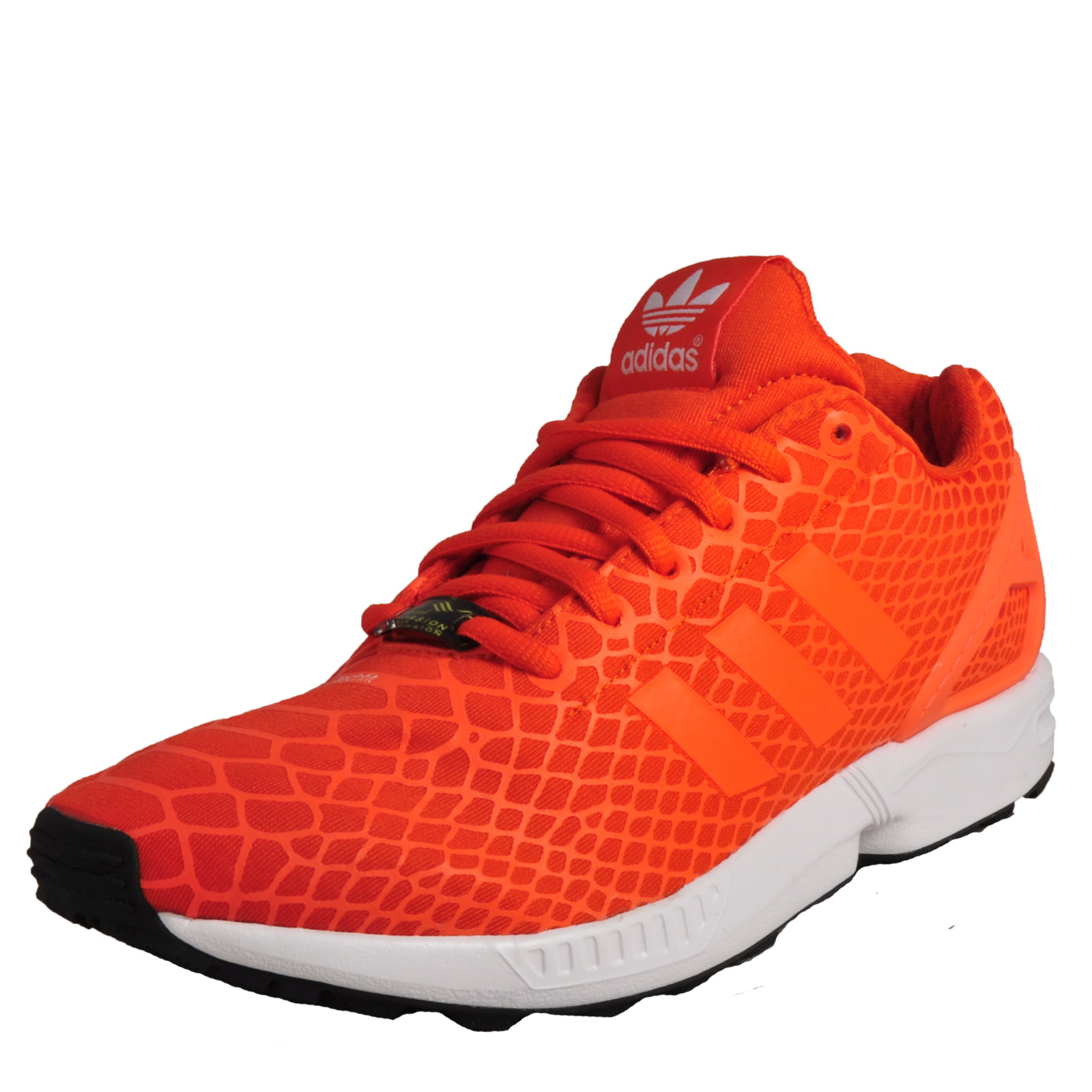 Adidas Originals ZX Flux Techfit Men's Running Shoes Gym Fitness Trainers  Orange