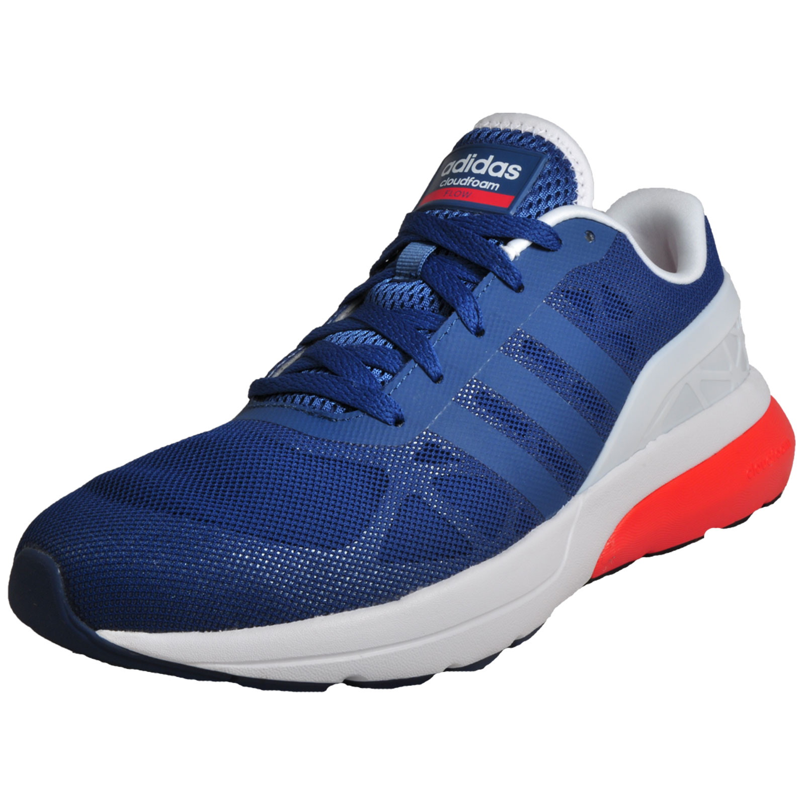 competitive price dc465 406fa Details about Adidas Neo Cloudfoam Flow Men s Running Shoes Fitness Gym  Trainers Blue