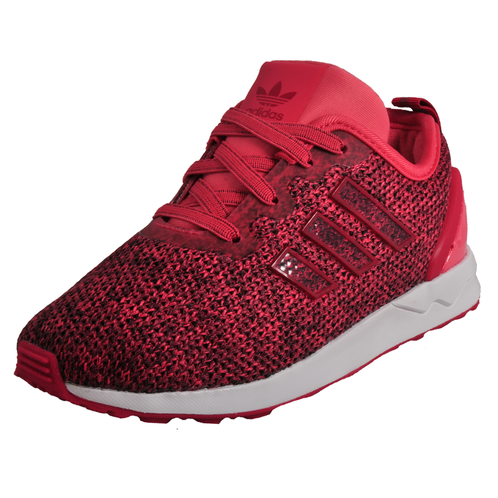 91c56d489092 Adidas Originals ZX Flux ADV EL Infants Casual Classic Trainers Pink ...