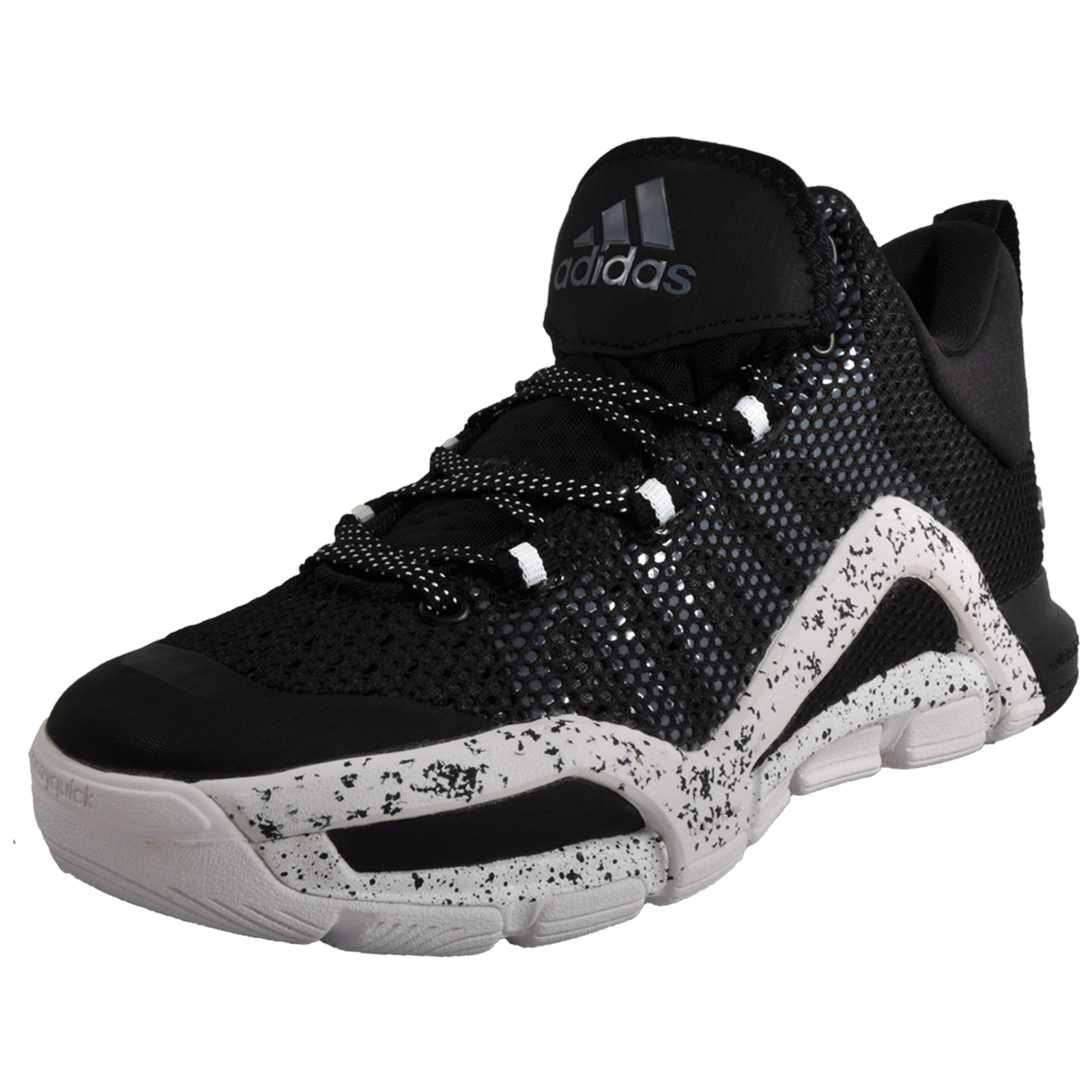b14a3f4f4f Adidas CrazyQuick 3 Men s Premium Basketball Fitness Court Trainers Black