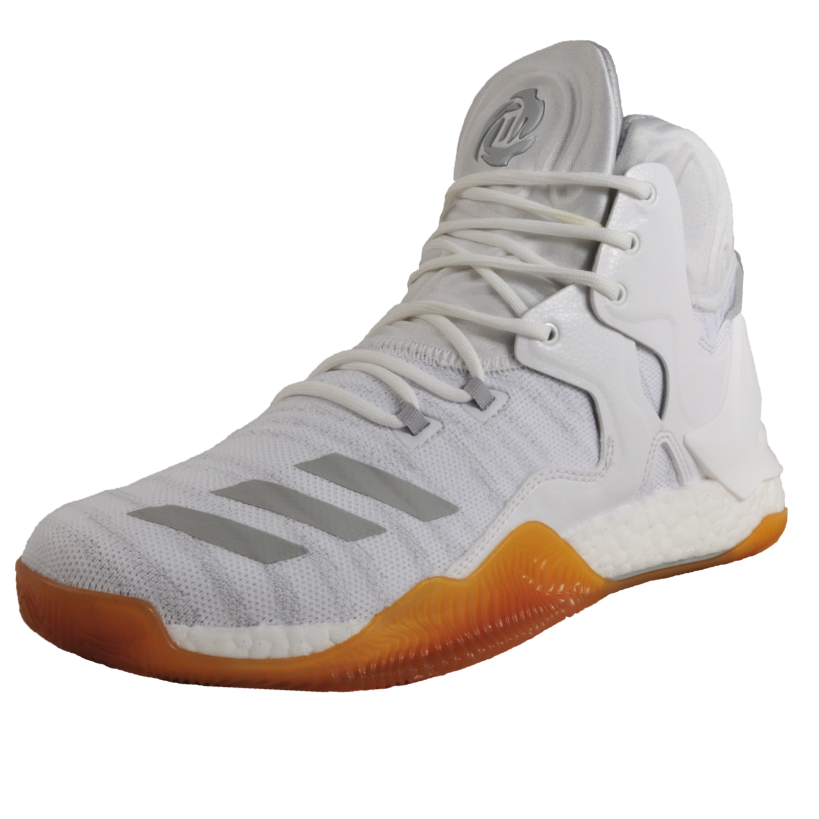 26f7a05180d3a Details about Adidas D Rose PK Primeknit Mens Premium High Top Basketball  Trainers White