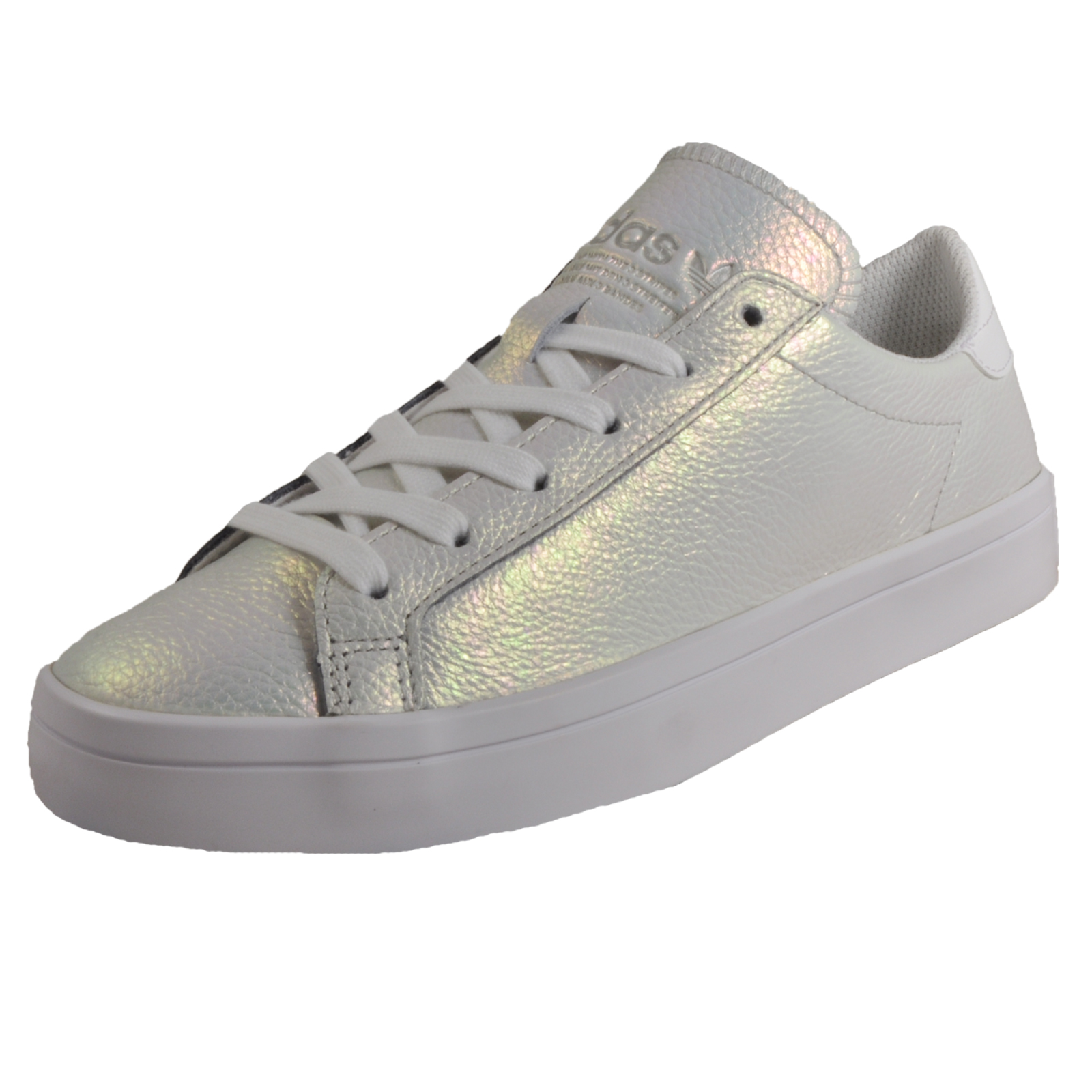 buy popular a585f 2190f Details about Adidas Originals Court Vantage Womens Fashion Retro Trainers  Pearlescent White