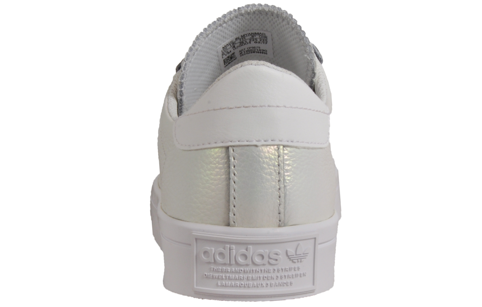 2d0ebf8aa2a2 Adidas Originals Court Vantage Women s Fashion Retro Trainers Pearlescent  White