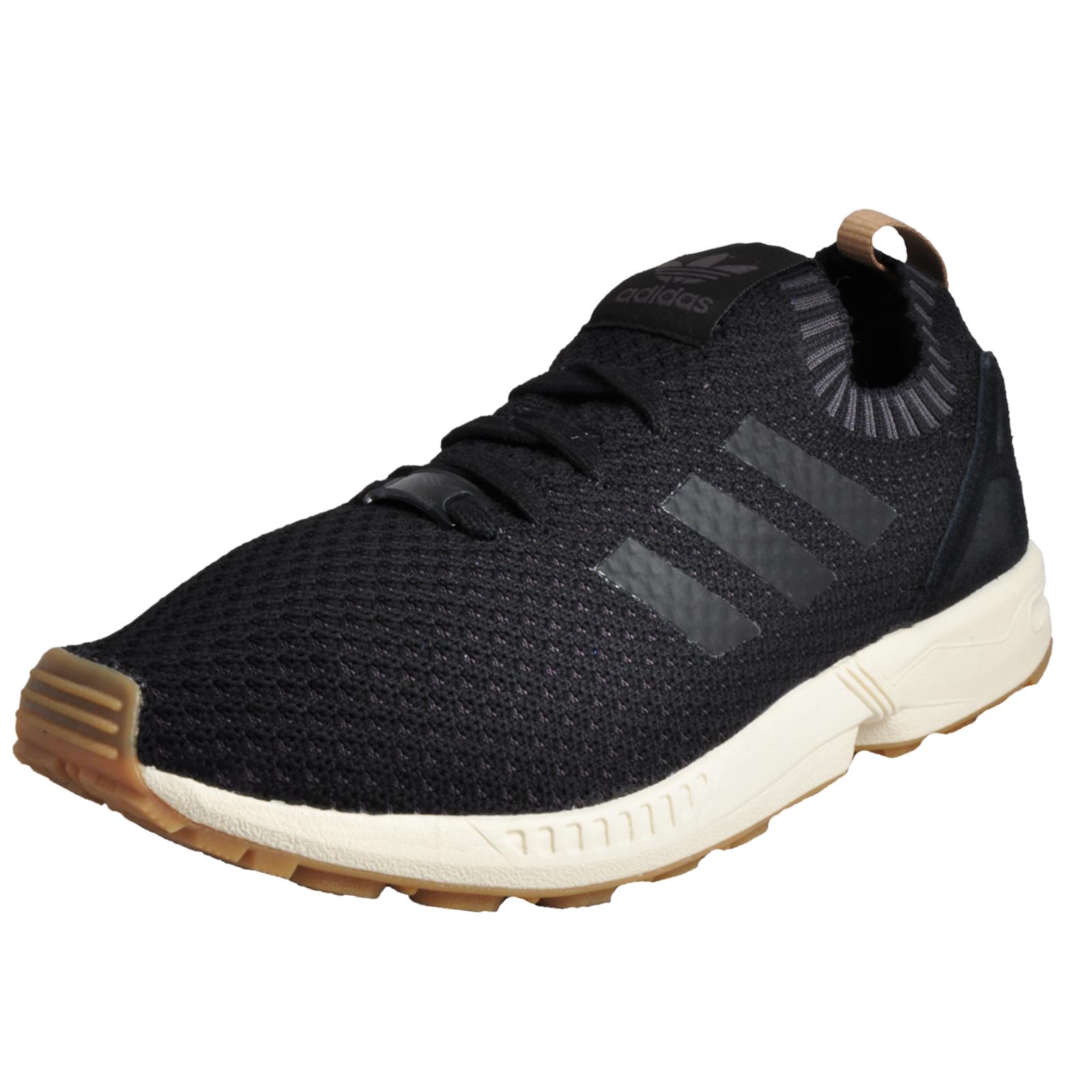 meet 99394 a1319 Details about Adidas Originals ZX Flux Primeknit Men s Casual Gym Trainers  Black