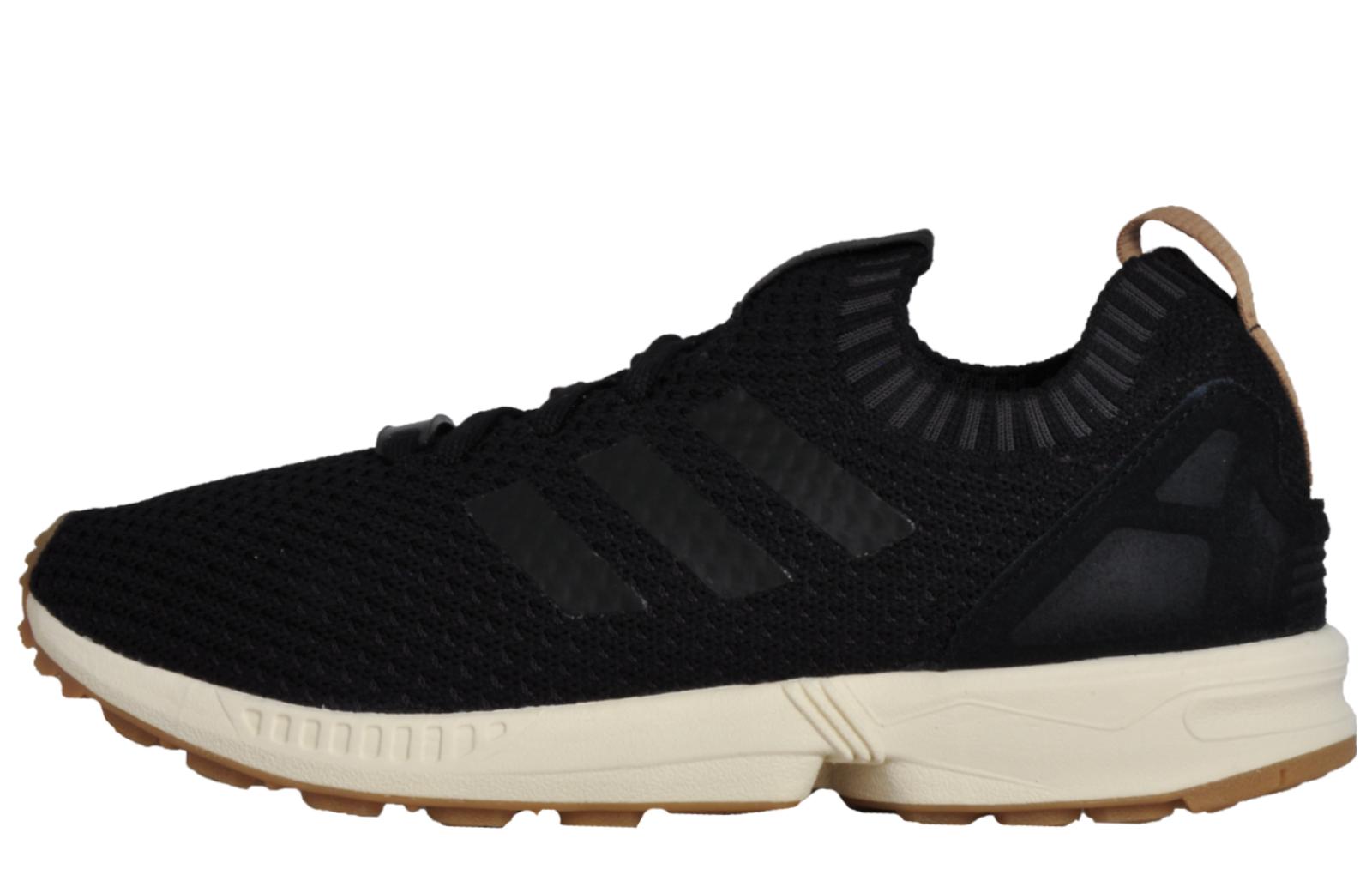 the best attitude cdb01 a97ca Adidas Originals ZX Flux Primeknit Men s Casual Gym Trainers Black