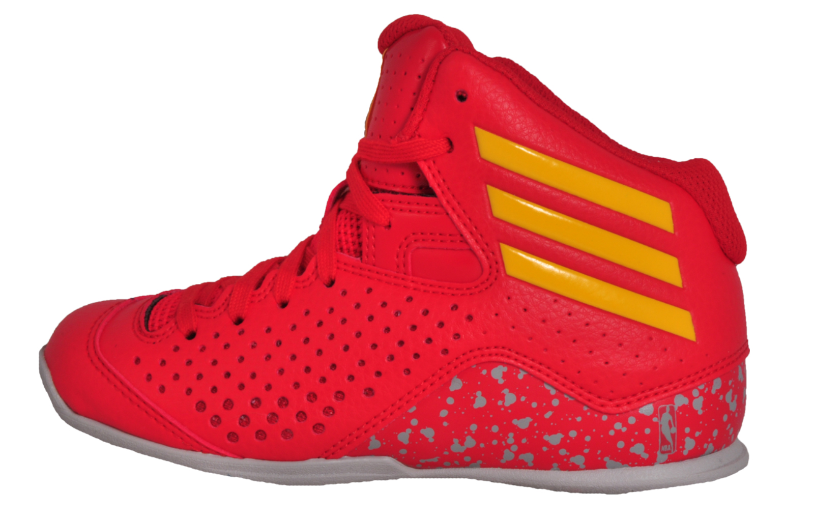 quality design 747dc f8a64 Adidas Next Level Speed 4 NBA Junior Kids Basketball Hi Top Trainers Red