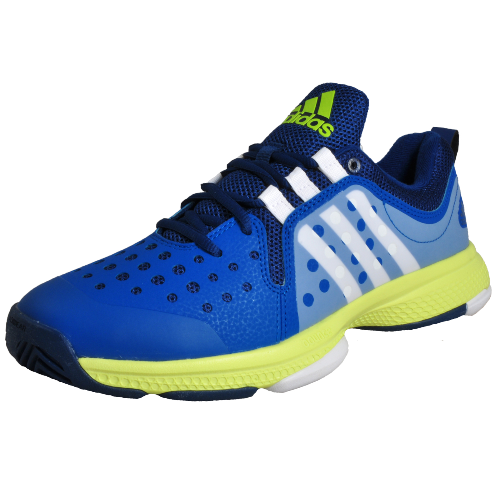 eb2c08ca3 Details about Adidas Barricade Classic Bounce Men s Tennis Court Fitness  Trainers Blue
