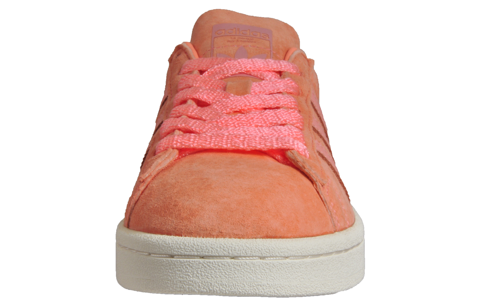 check out ba7a6 6b381 Adidas Originals Campus Womens Ladies Suede Leather Retro Trainers Peach  Pink