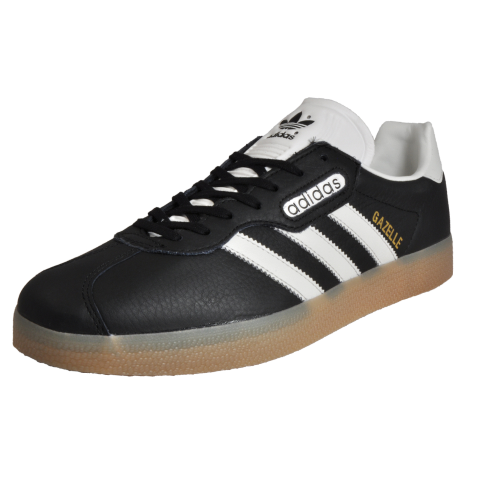 new styles b923f f8171 Details about Adidas Originals Gazelle Mens Leather Vintage Classic Casual  Retro Trainers Blac