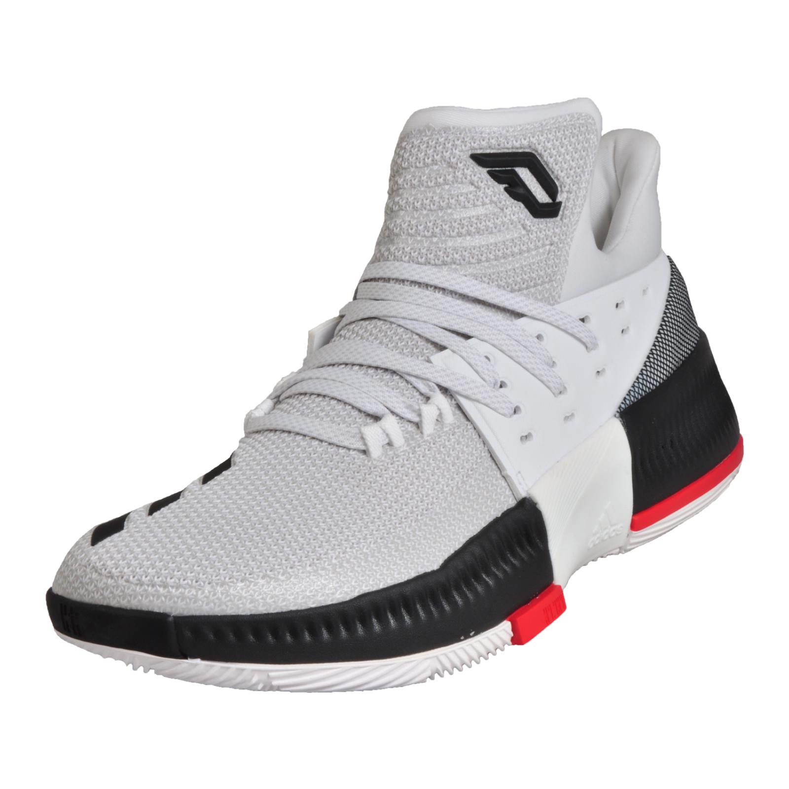 065fb089f479d7 Adidas Damian Lillard 3 Mens Crazy Time Basketball CourtTrainers White