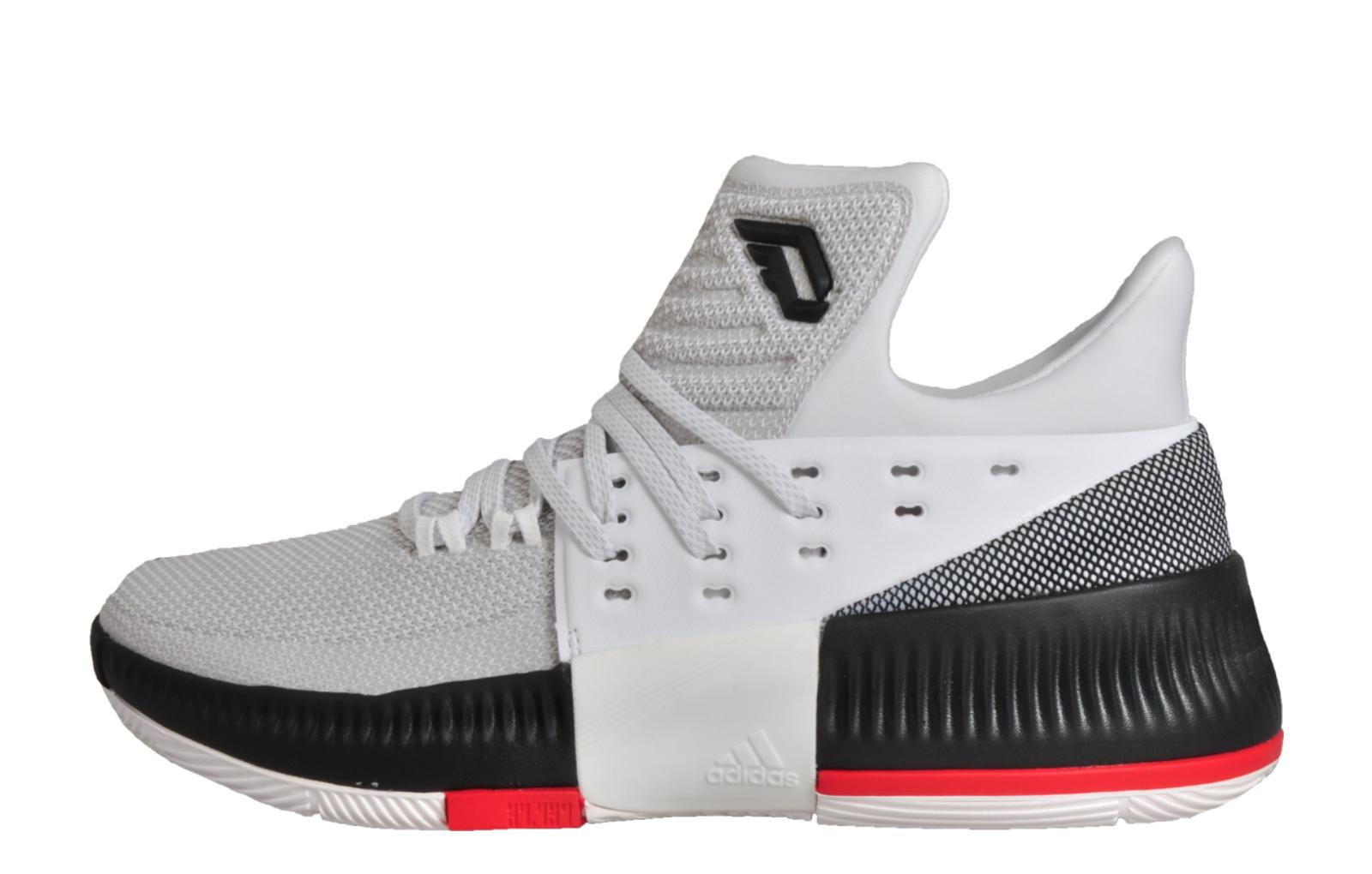 cheaper 68452 0b592 Adidas Damian Lillard 3 Mens Crazy Time Basketball CourtTrainers White