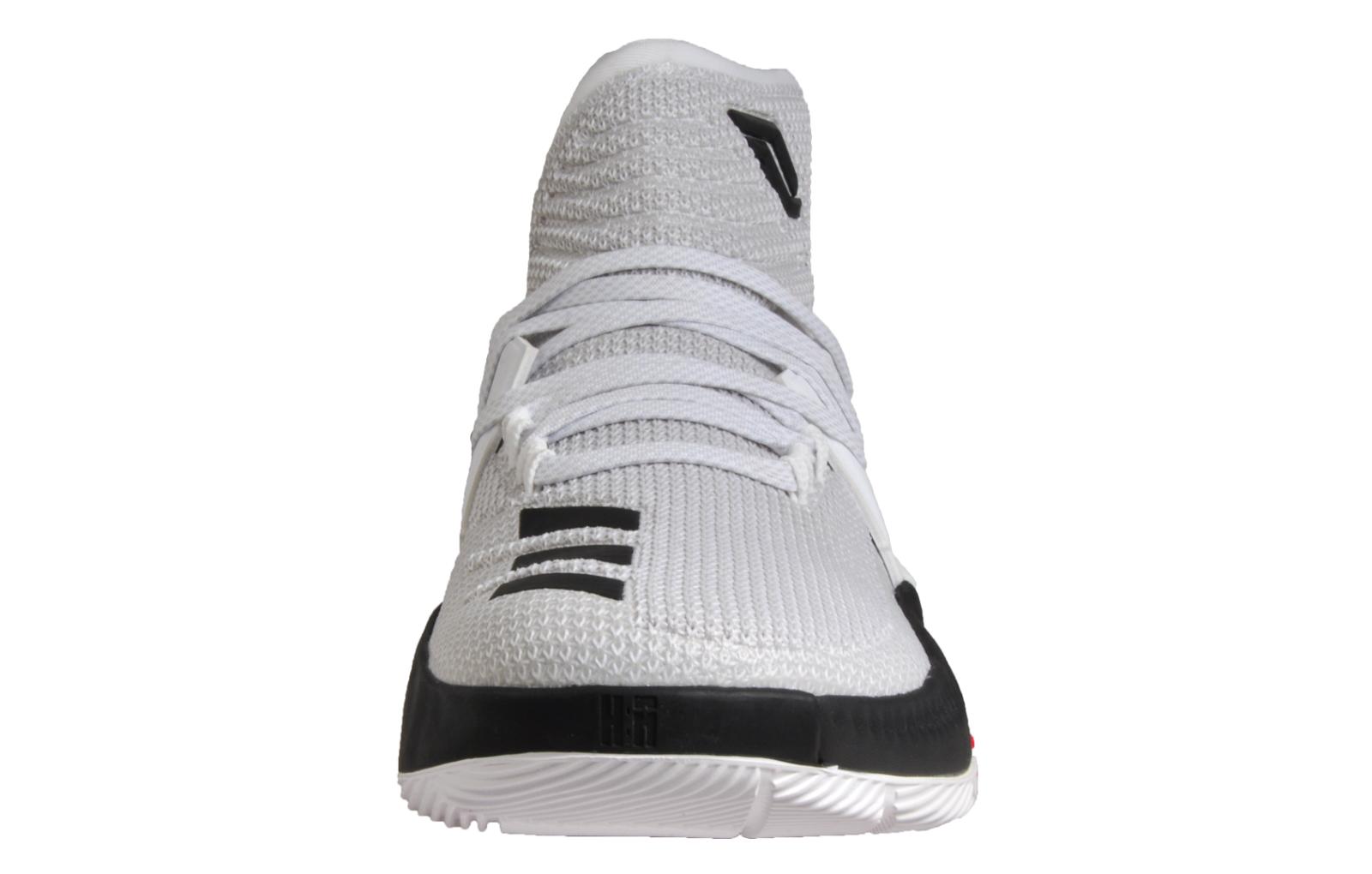 cheaper f14be b9ca7 Adidas Damian Lillard 3 Mens Crazy Time Basketball CourtTrainers White