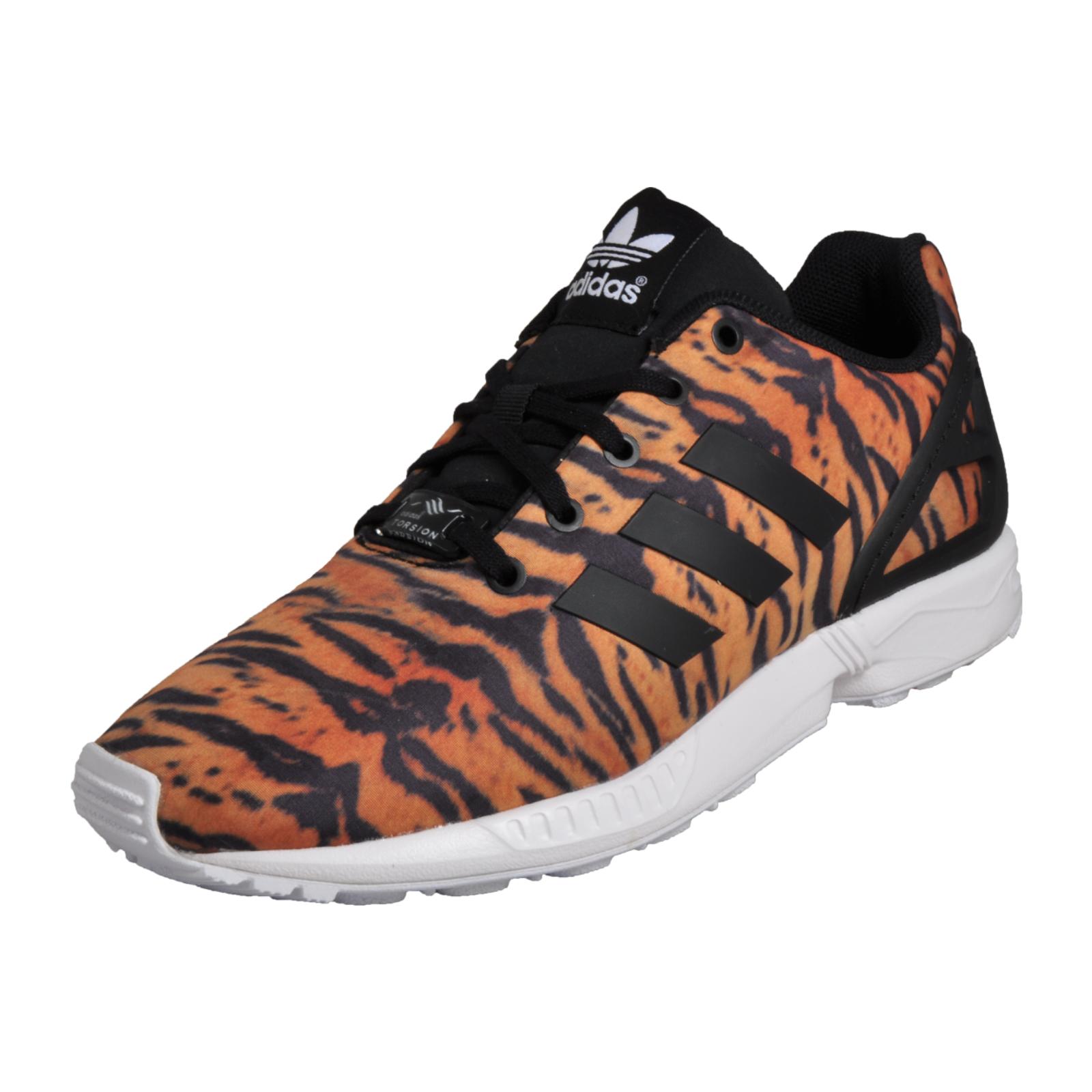 hot sale online c4cbd 2e0e0 Details about Adidas Originals ZX Flux Kids Uni Classic Casual Animal Print  Trainers