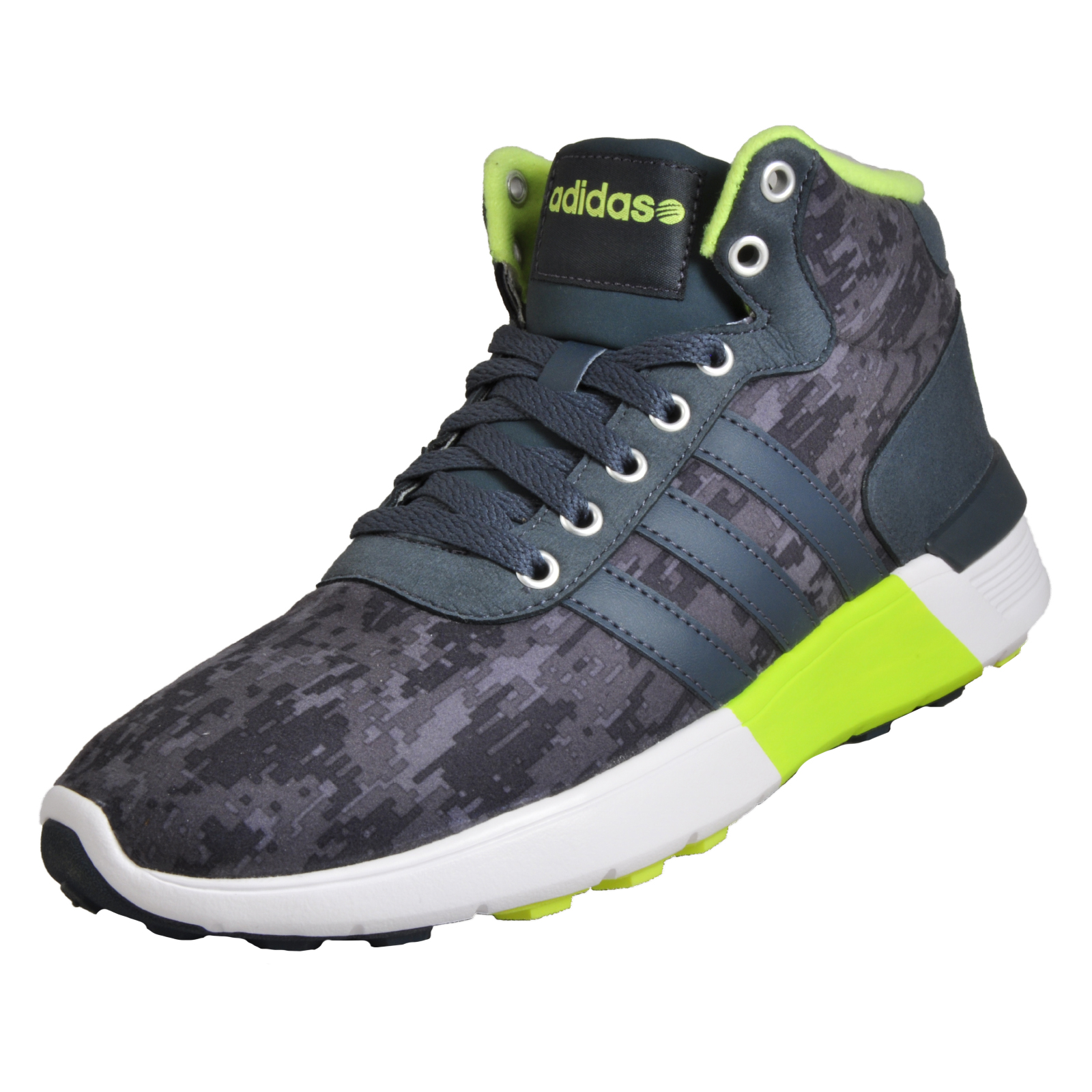 the latest 48afd 0500c Details about Adidas Lite Racer Mid Mens Athletic Fashion Gym Trainers  Sneakers Grey