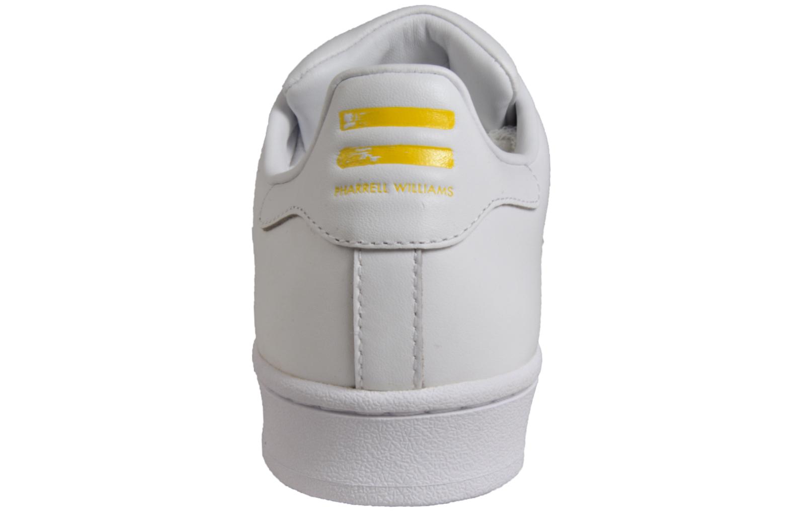 50e698440c8 Adidas Originals Superstar Pharrell Williams Men s Leather Retro Trainers  White