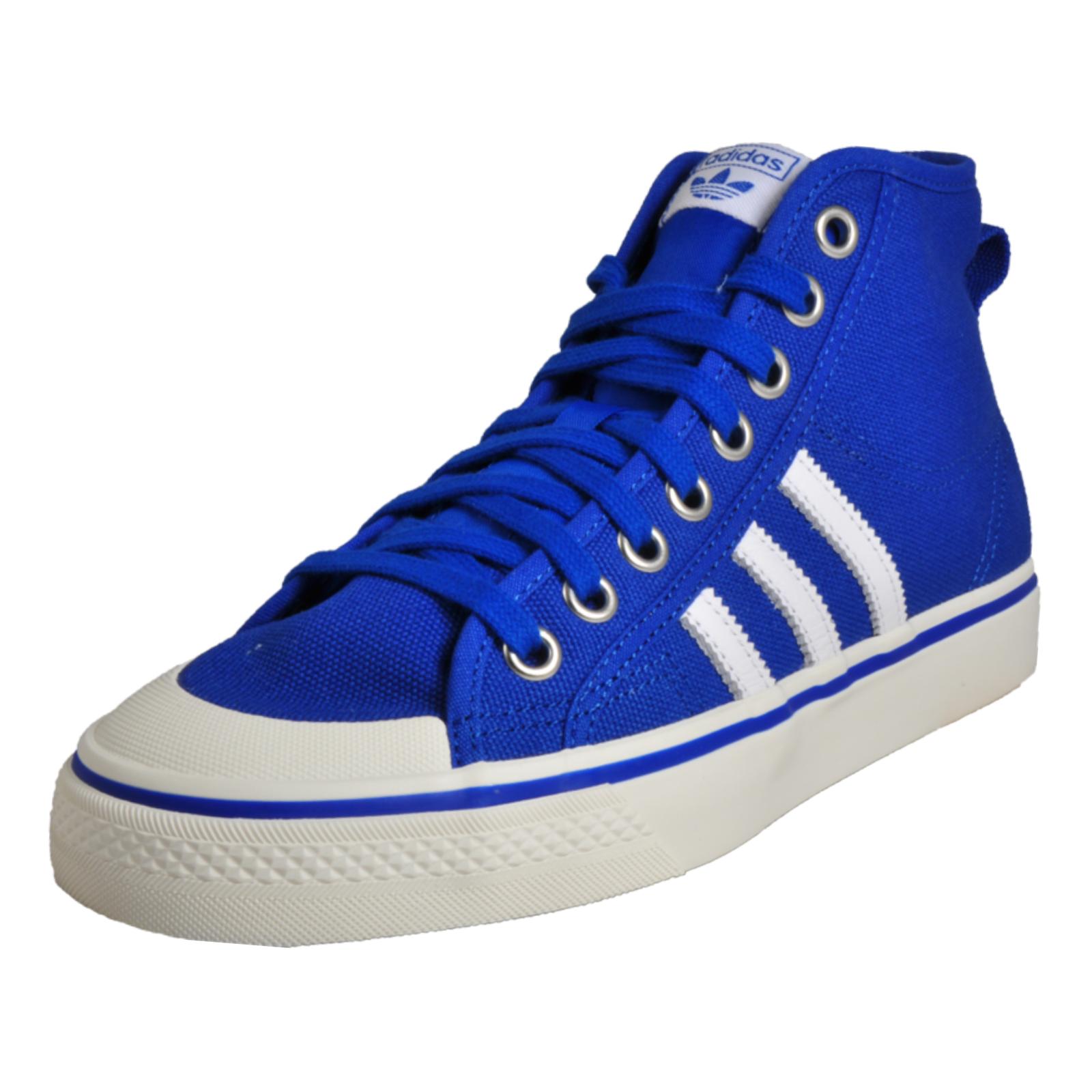 f9dbd8c34ec8 Details zu Adidas Originals Nizza Hi Mens Vintage Retro Sneakers Trainers  Blue